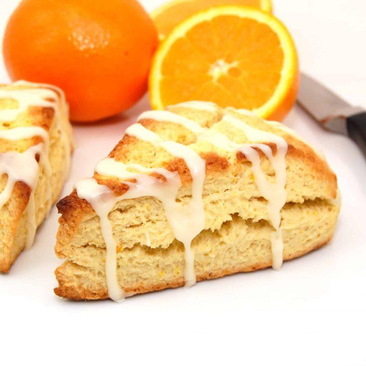 Orange Scones with Coconut Orange Glaze