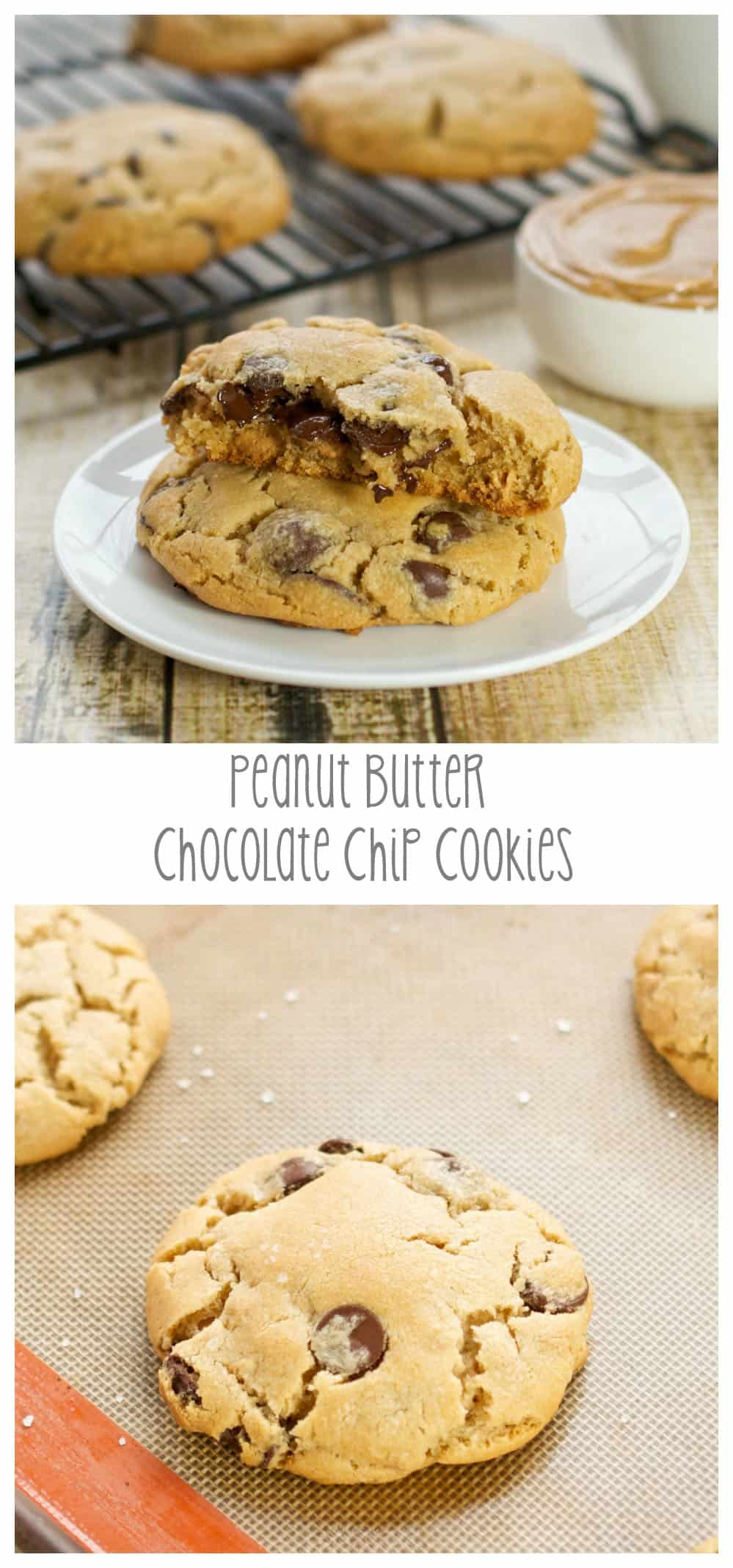 pinterest picture for peanut butter chocolate chip cookies