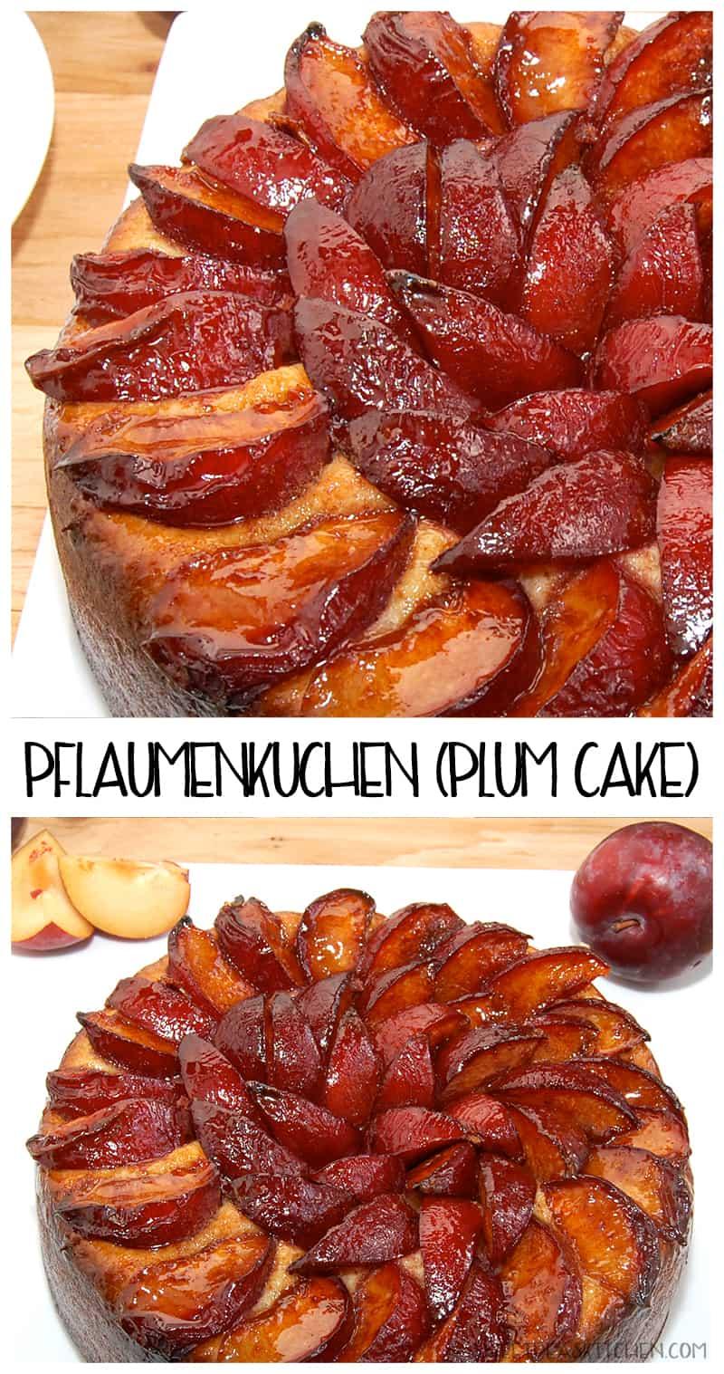 Pflaumenkuchen (German Plum Cake Recipe) - PIN IMAGE
