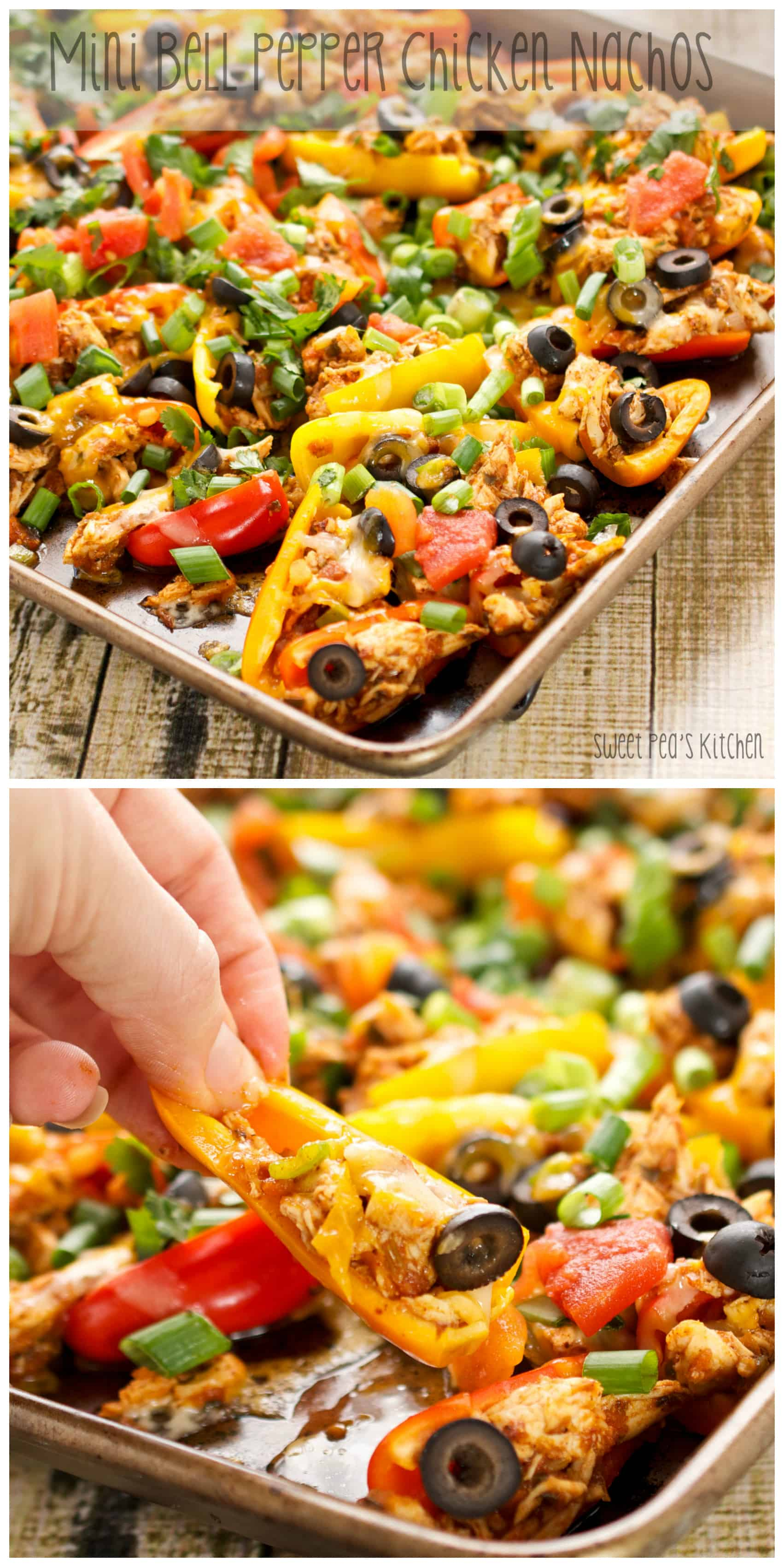 Chicken Healthy Nachos on Mini Bell Peppers