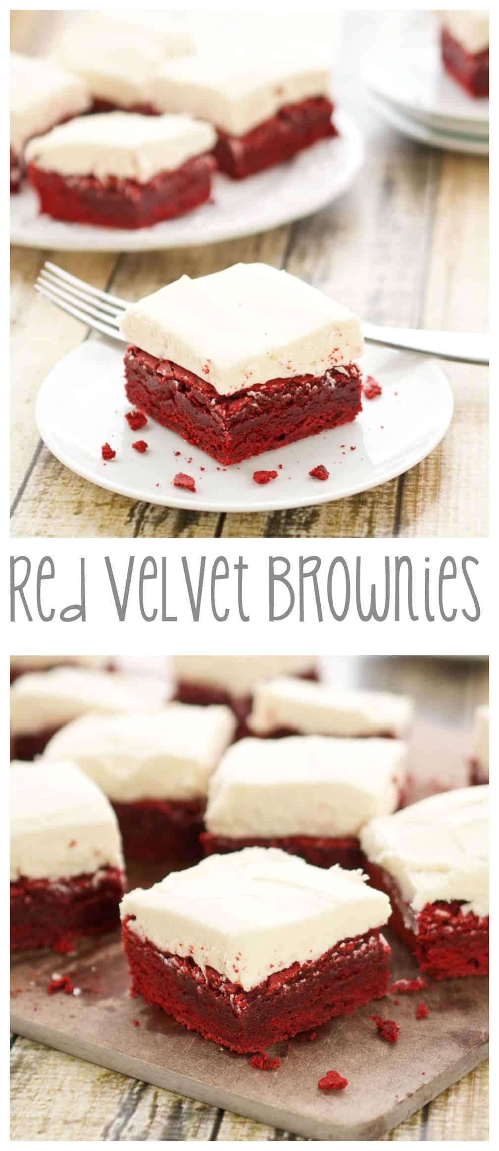 red velvet brownies for pinterest