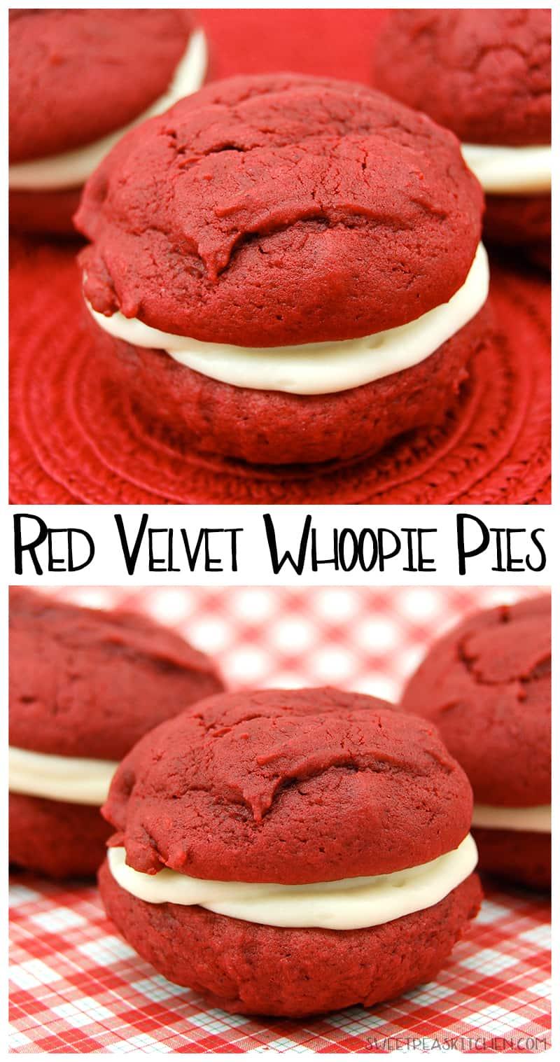 red velvet whoopie pies - PIN image