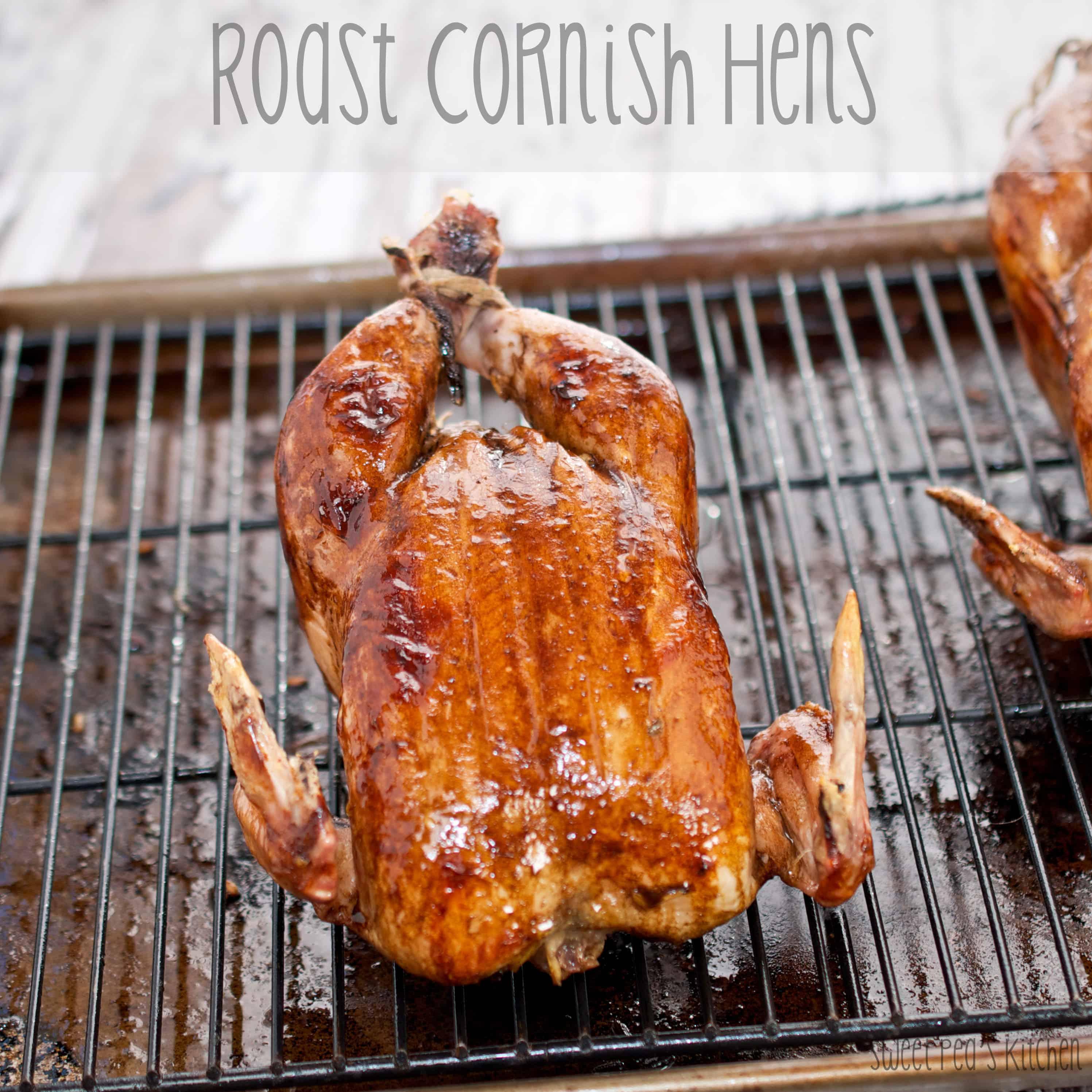 cornish hen ready to serve