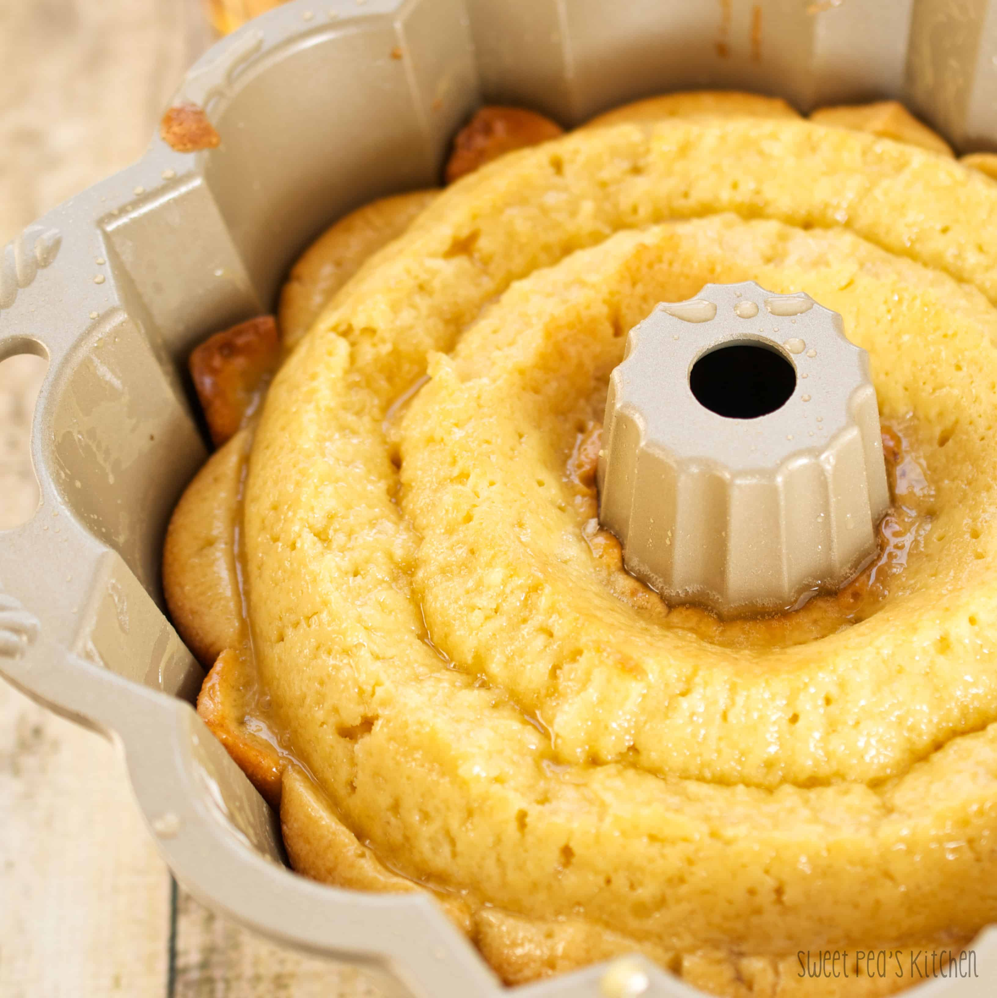 overhead picture of bunt cake
