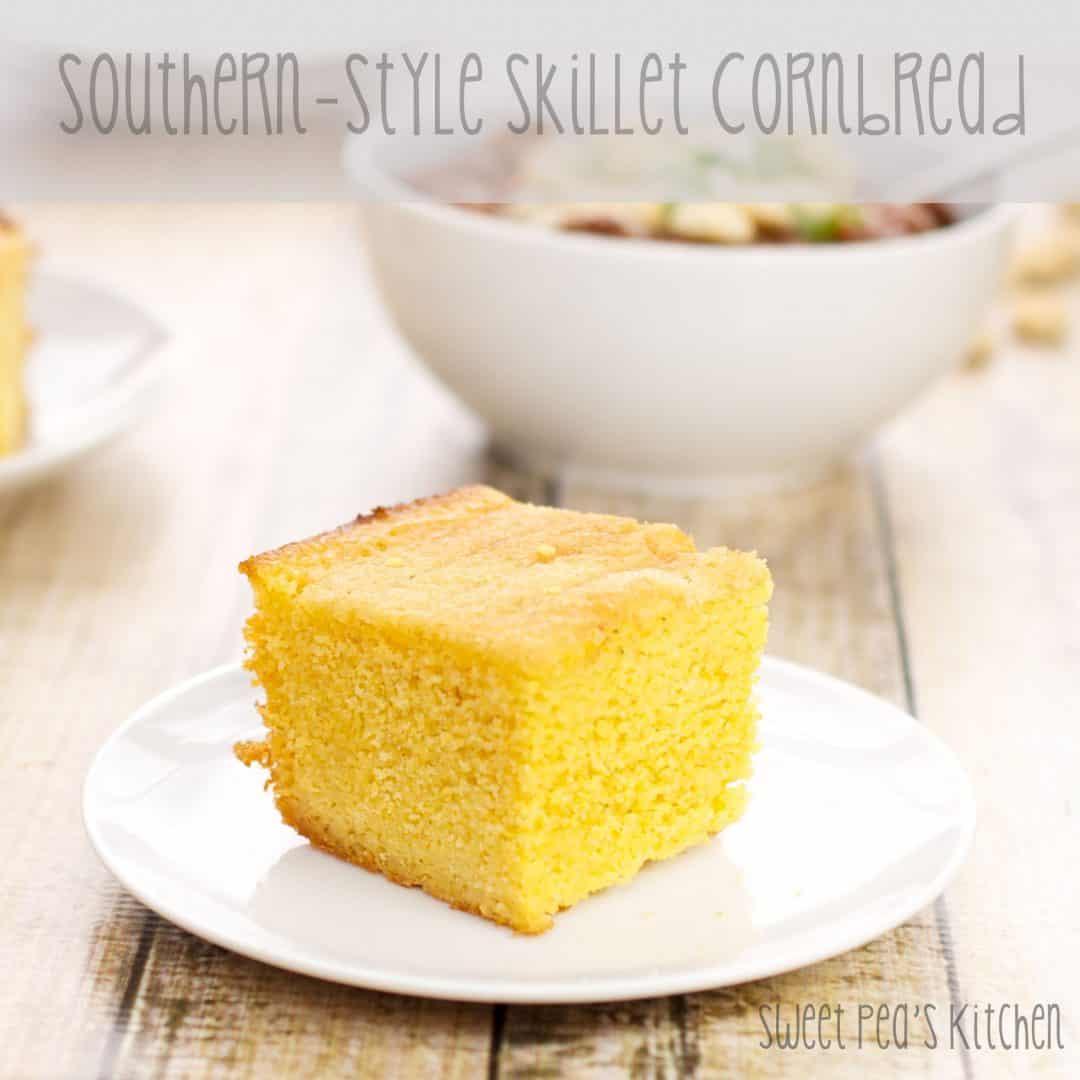 piece of skillet cornbread recipe