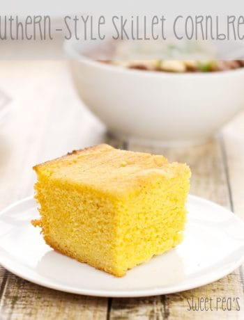 piece of skillet cornbread recipe