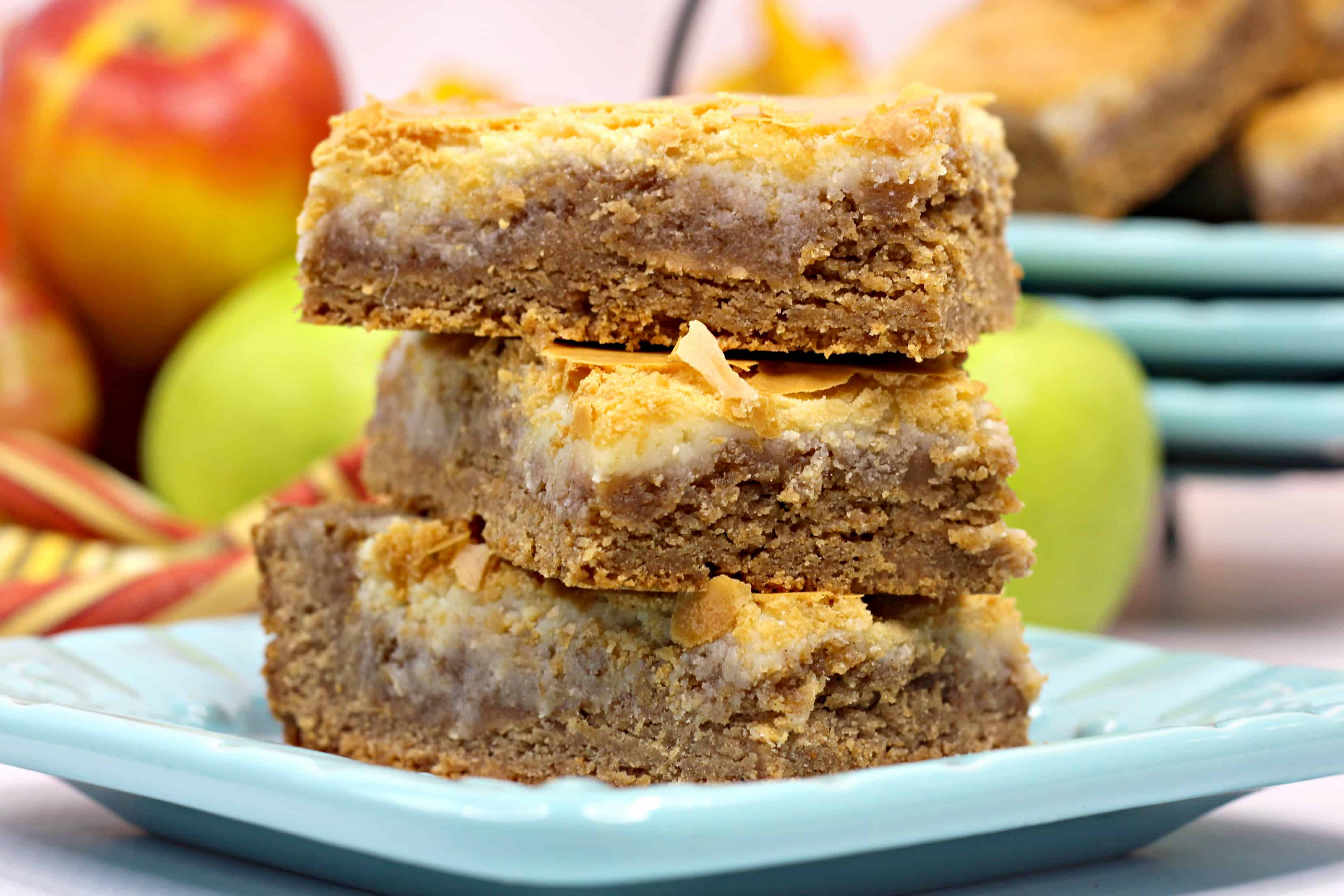 spice cake cheesecake harvest bars