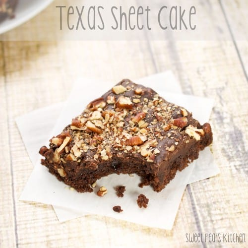 texas sheet cake recipe with bite out of it