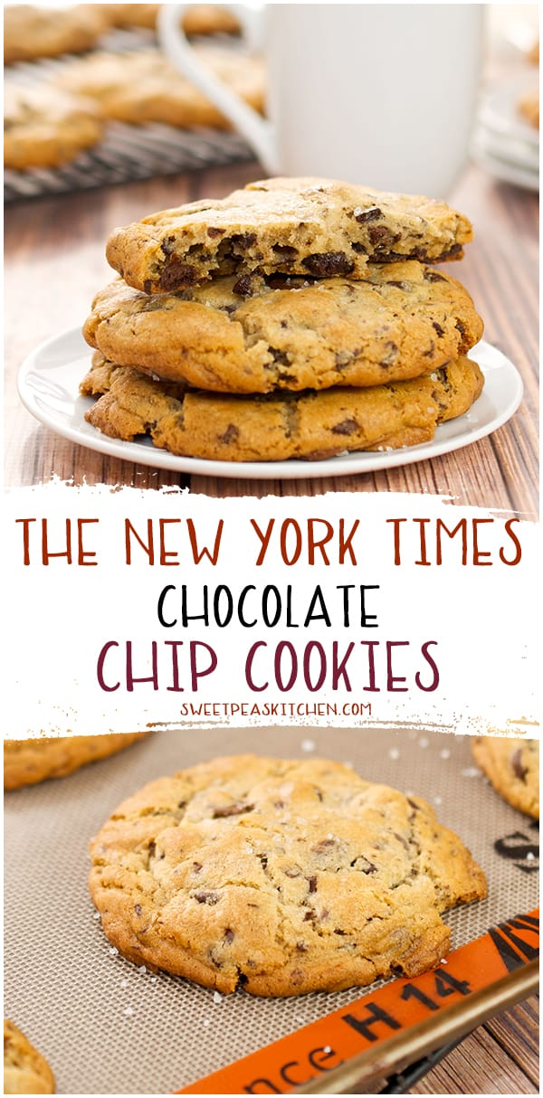 The New York Times Chocolate Chip Cookies for pinterest