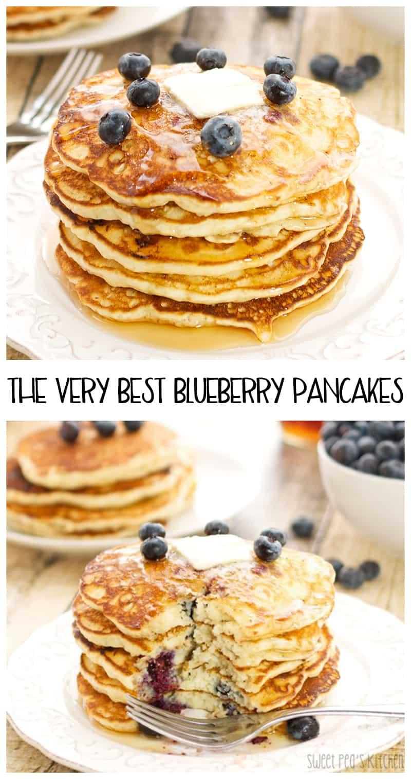the very best blueberry pancakes on a white plate pinterest picture