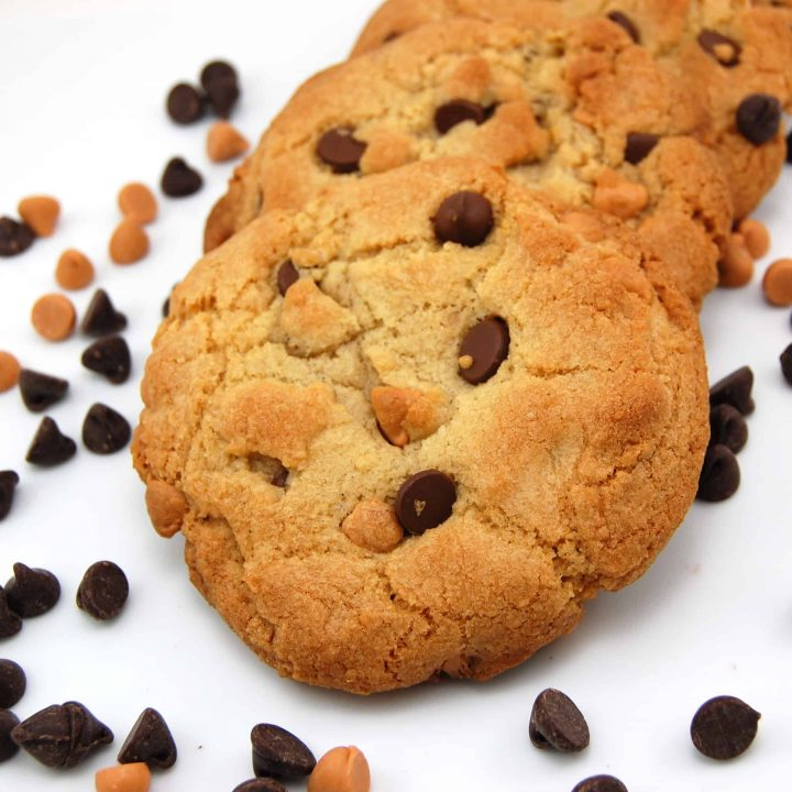 Thick and Chewy Chocolate Butterscotch Chip Cookie