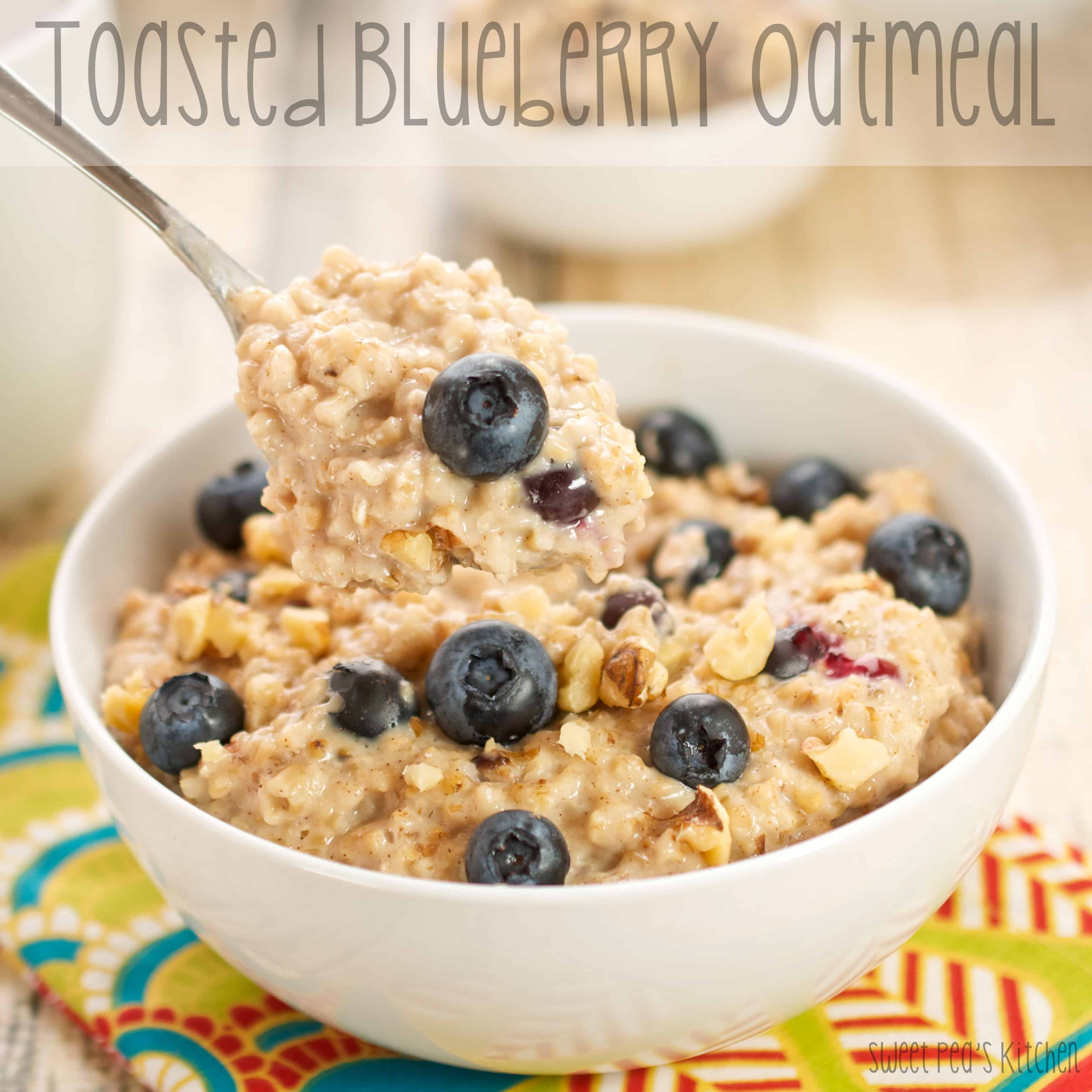 Toasted Blueberry Oatmeal
