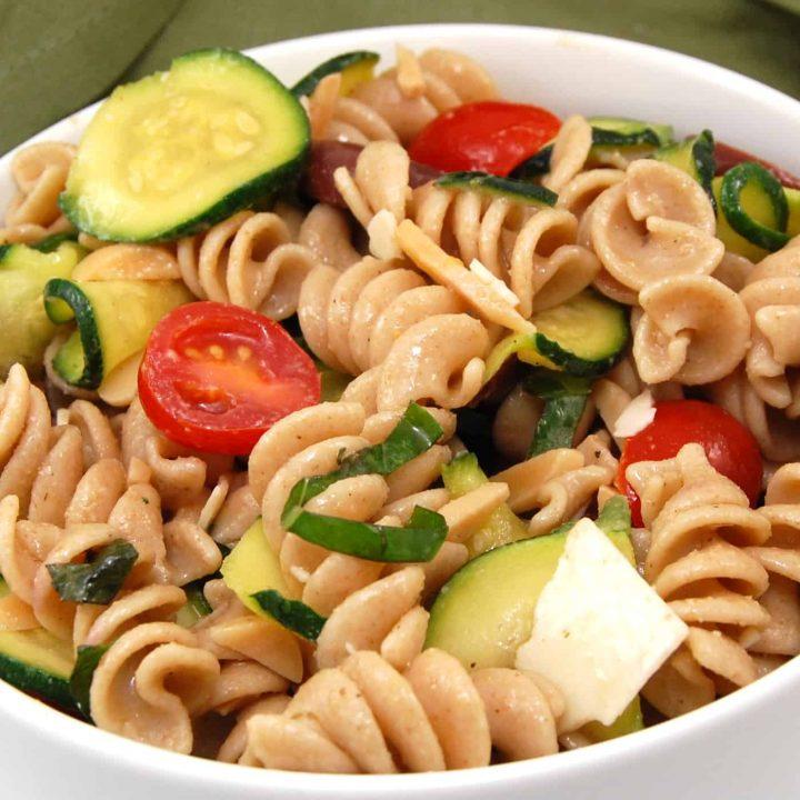Zucchini and Almond Pasta Salad