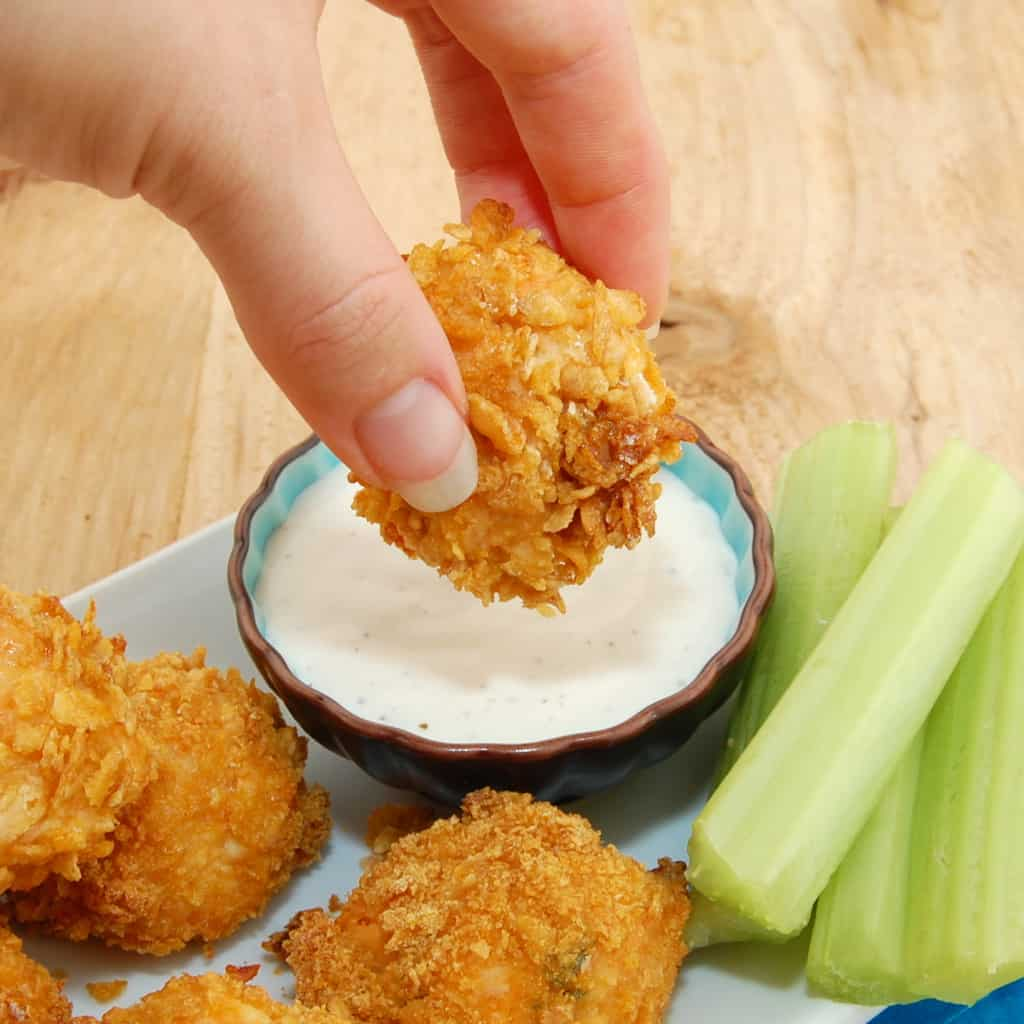 Crunchy Buffalo Chicken Bites Recipe