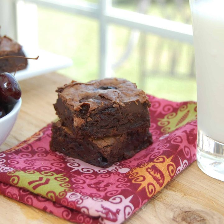 Triple Chocolate Cherry Brownies