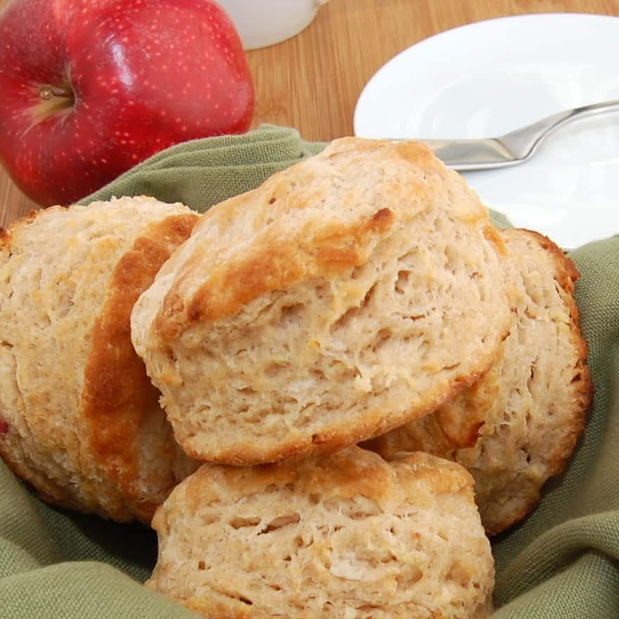 Spiced Apple Buttermilk Biscuits