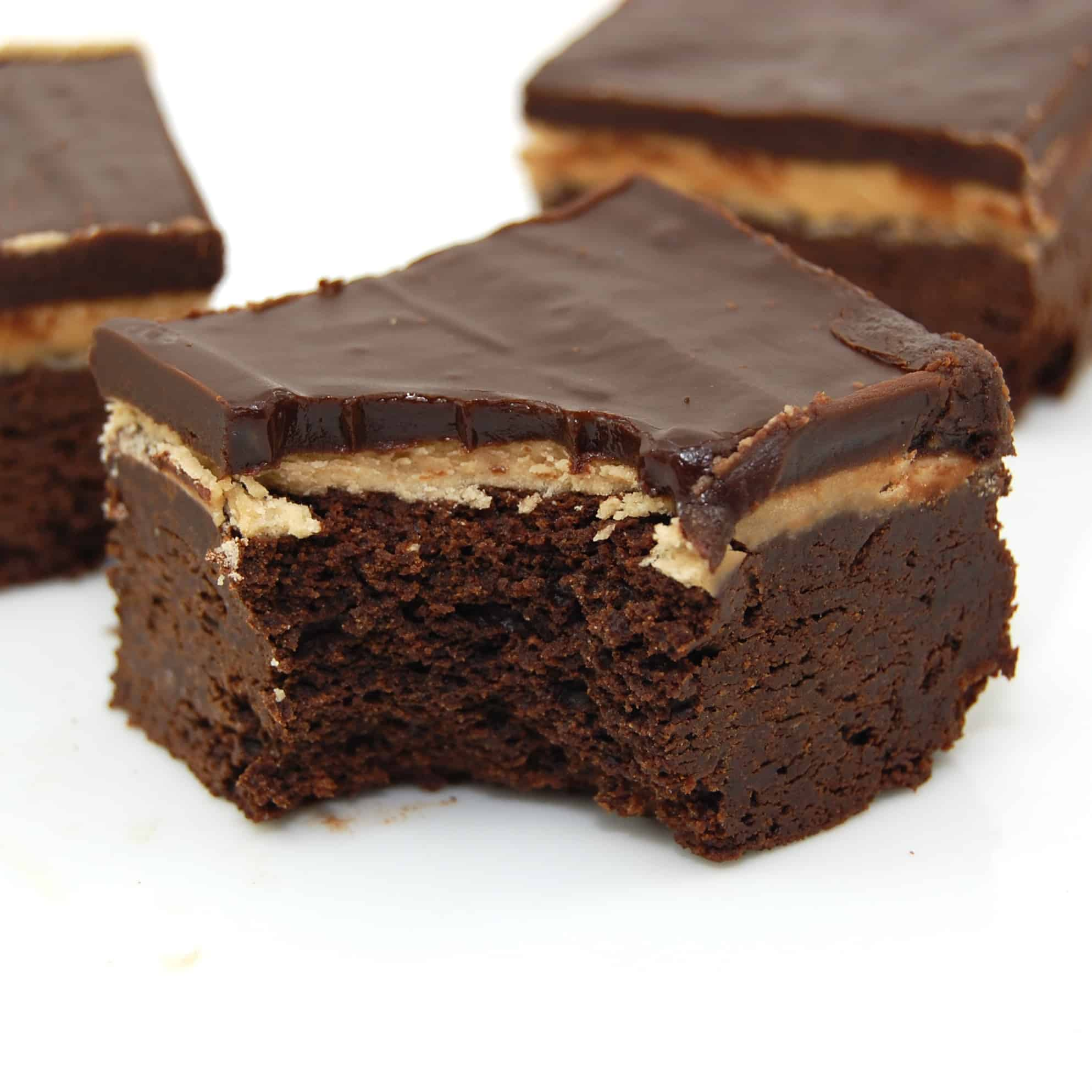 chocolate brownie recipe with coffee cream filling