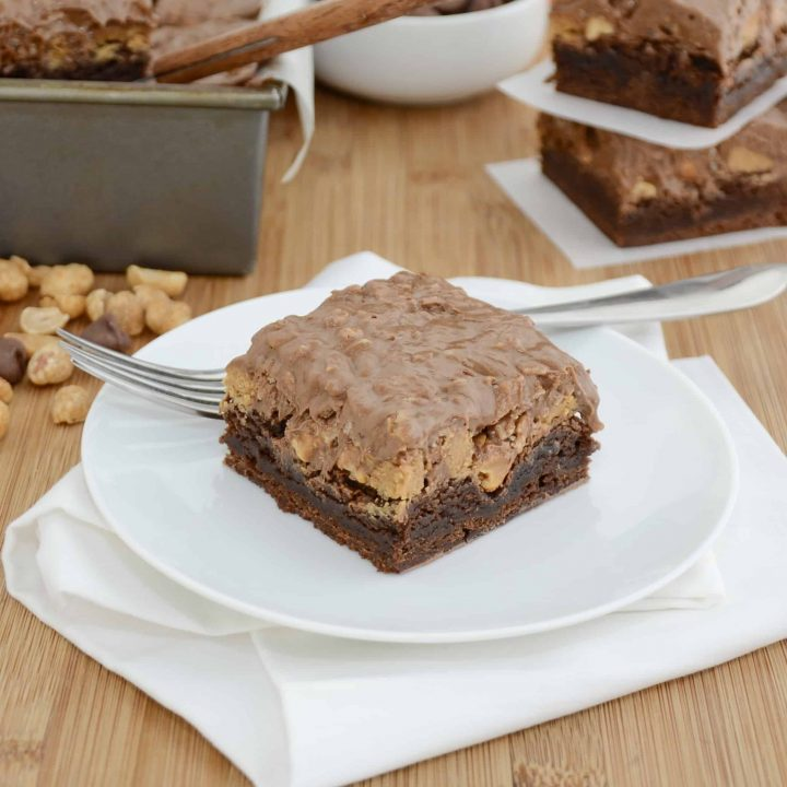 Peanut Butter Cup Crunch Brownies