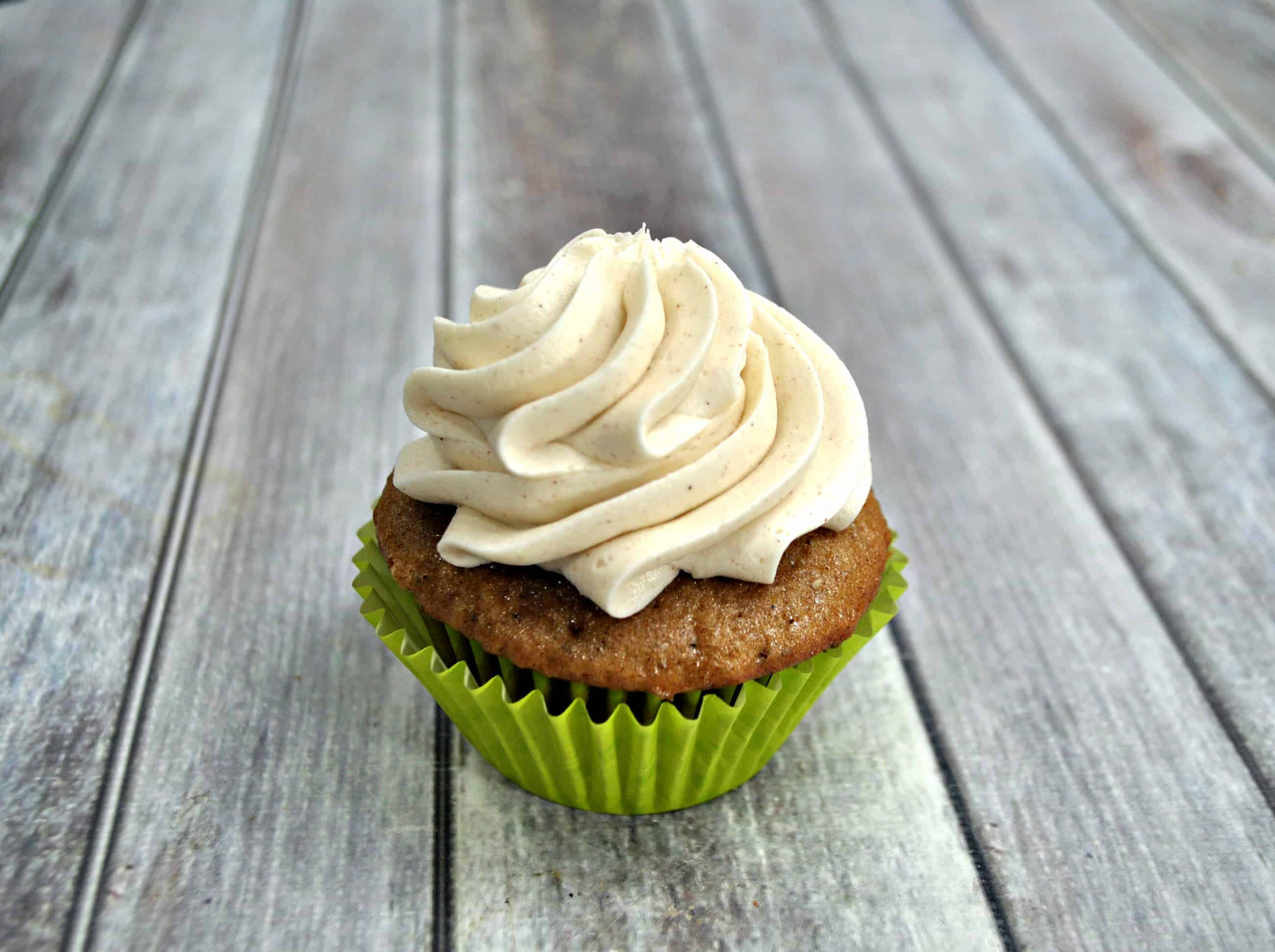 apple cupcake with the best buttercream icing on top