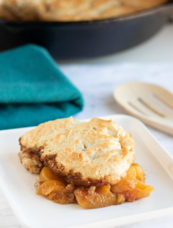 Best Peach Cobbler Recipe in Cast Iron Skillet