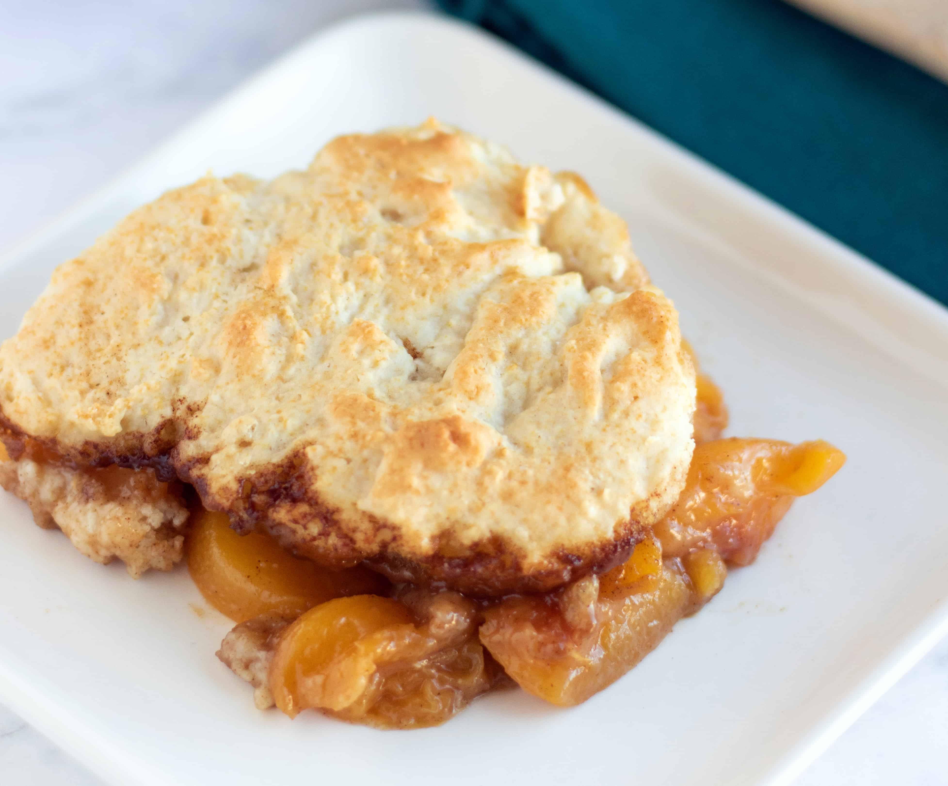 Best Peach Cobbler Recipe in Cast Iron Skillet