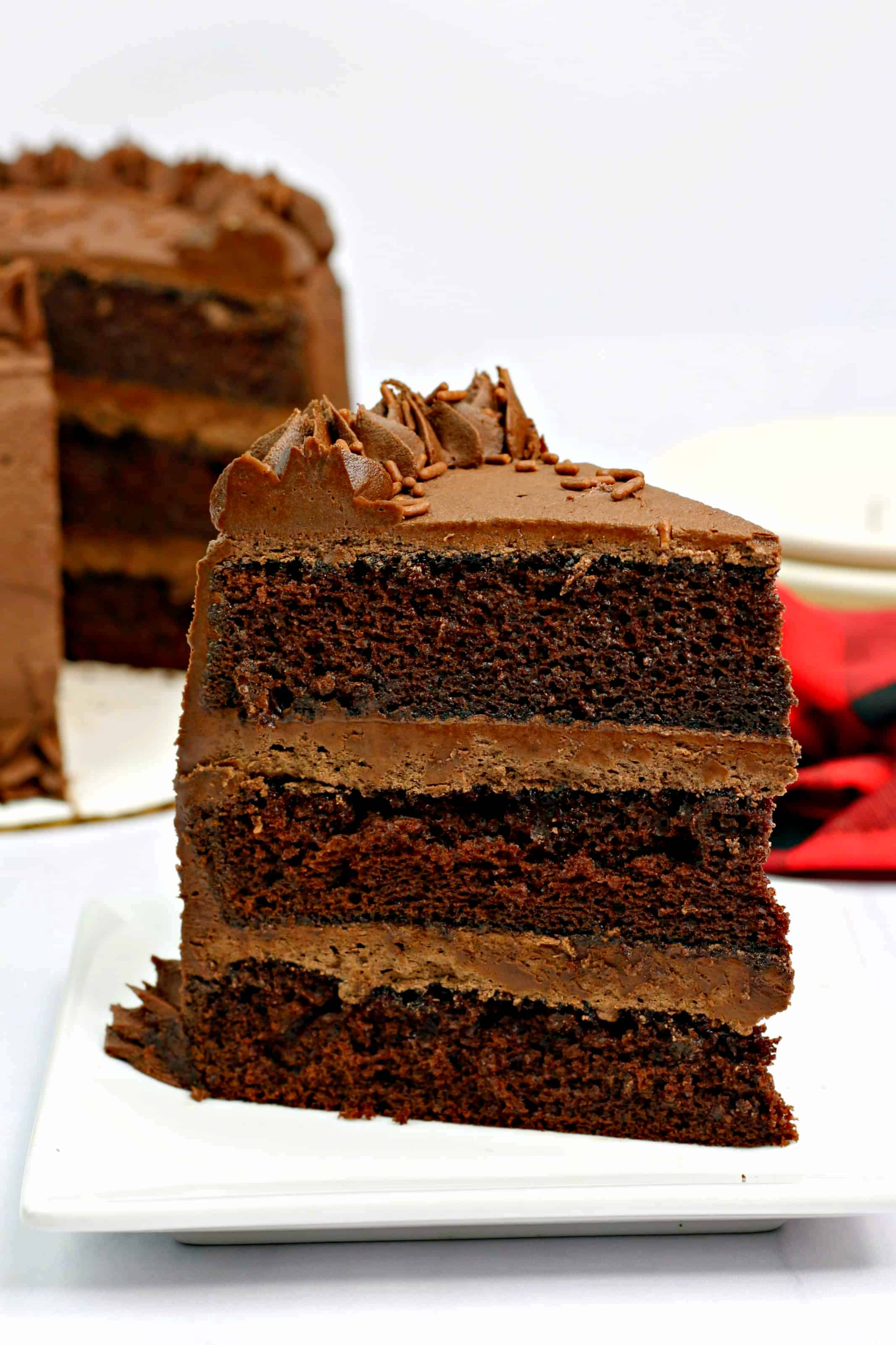 Blackout Dark Chocolate Cake Recipe