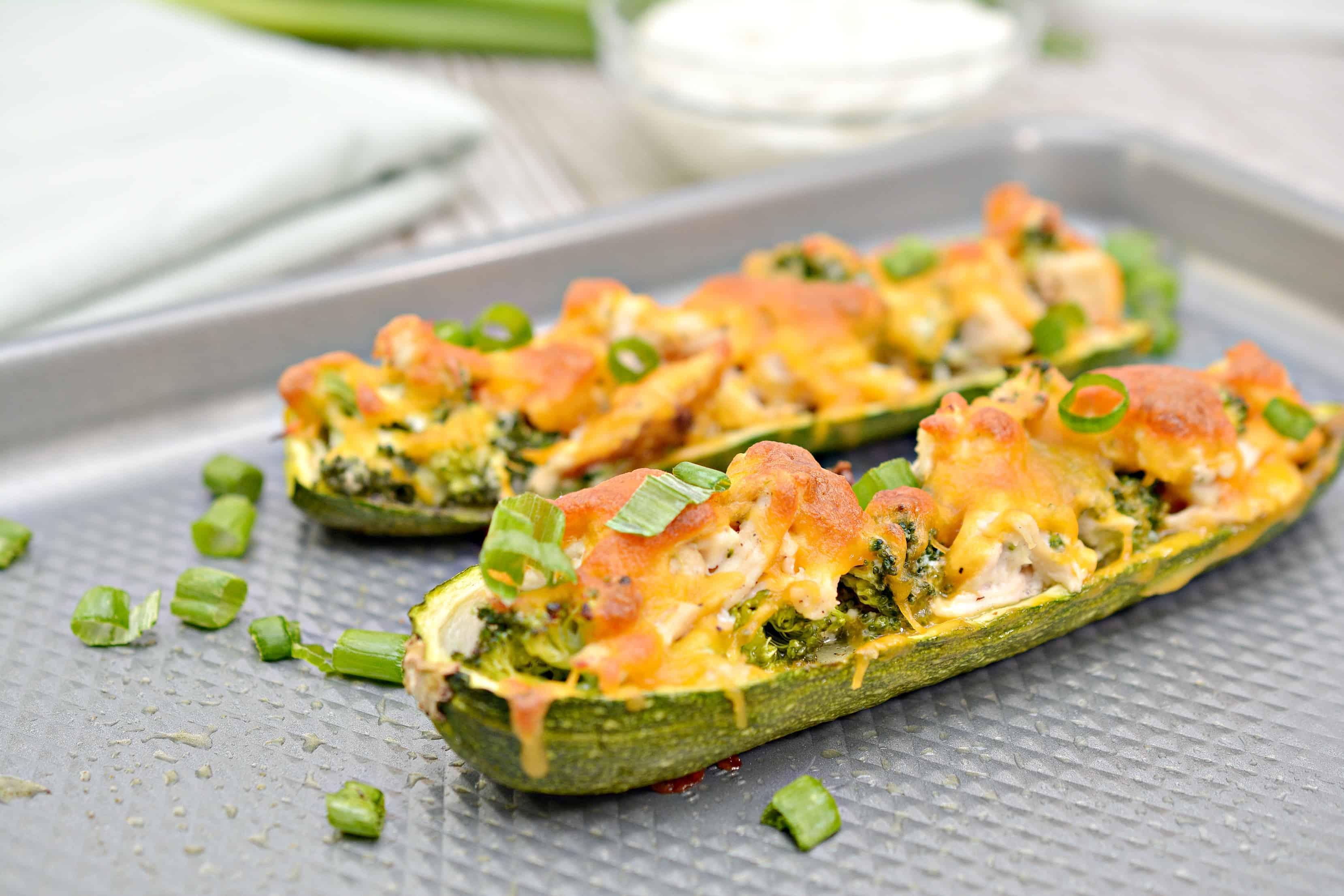 chicken zucchini boats