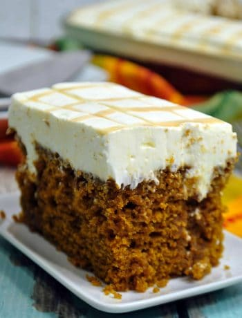 Caramel Cream Cheese Pumpkin Poke Cake Recipe