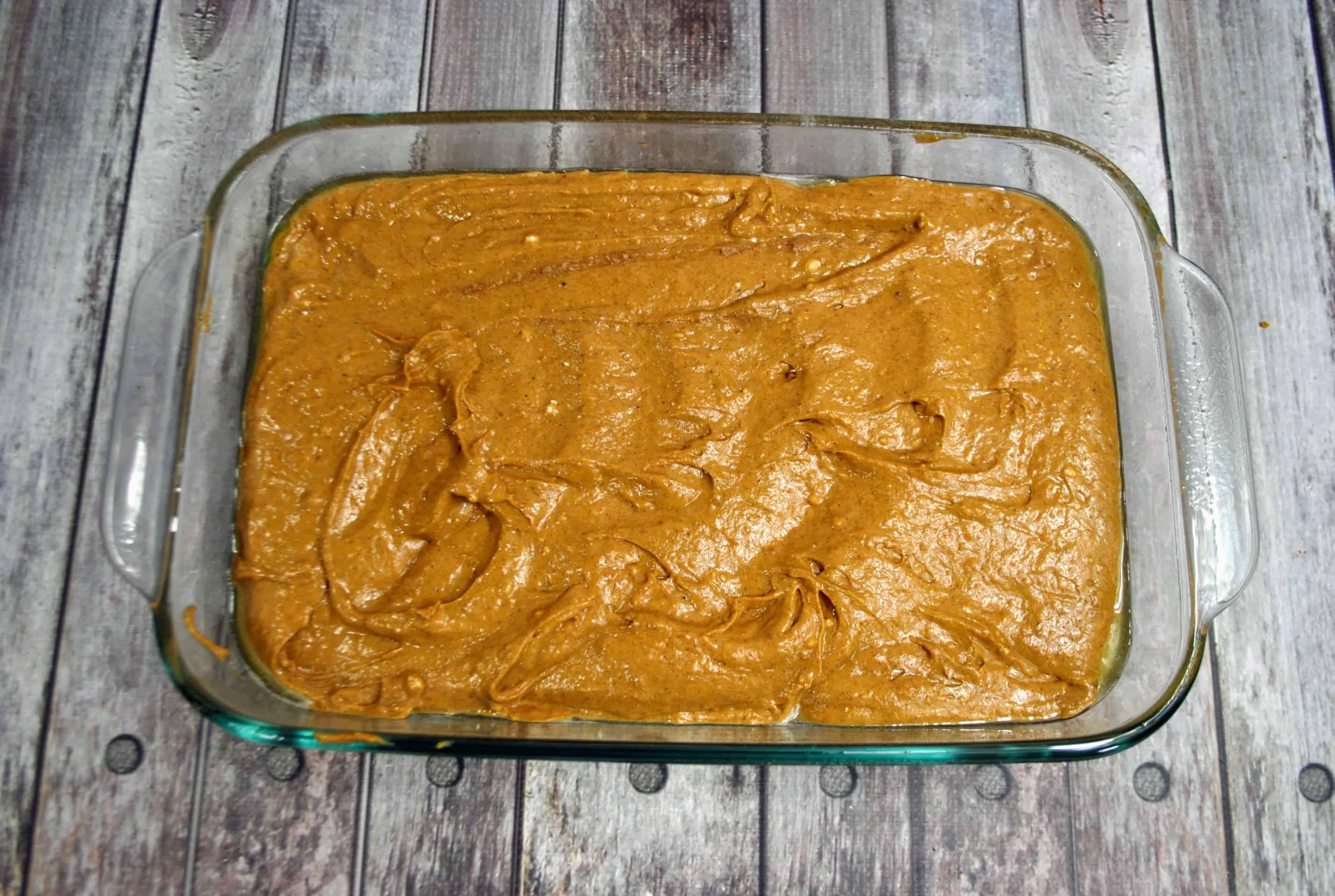 pumpkin cake batter