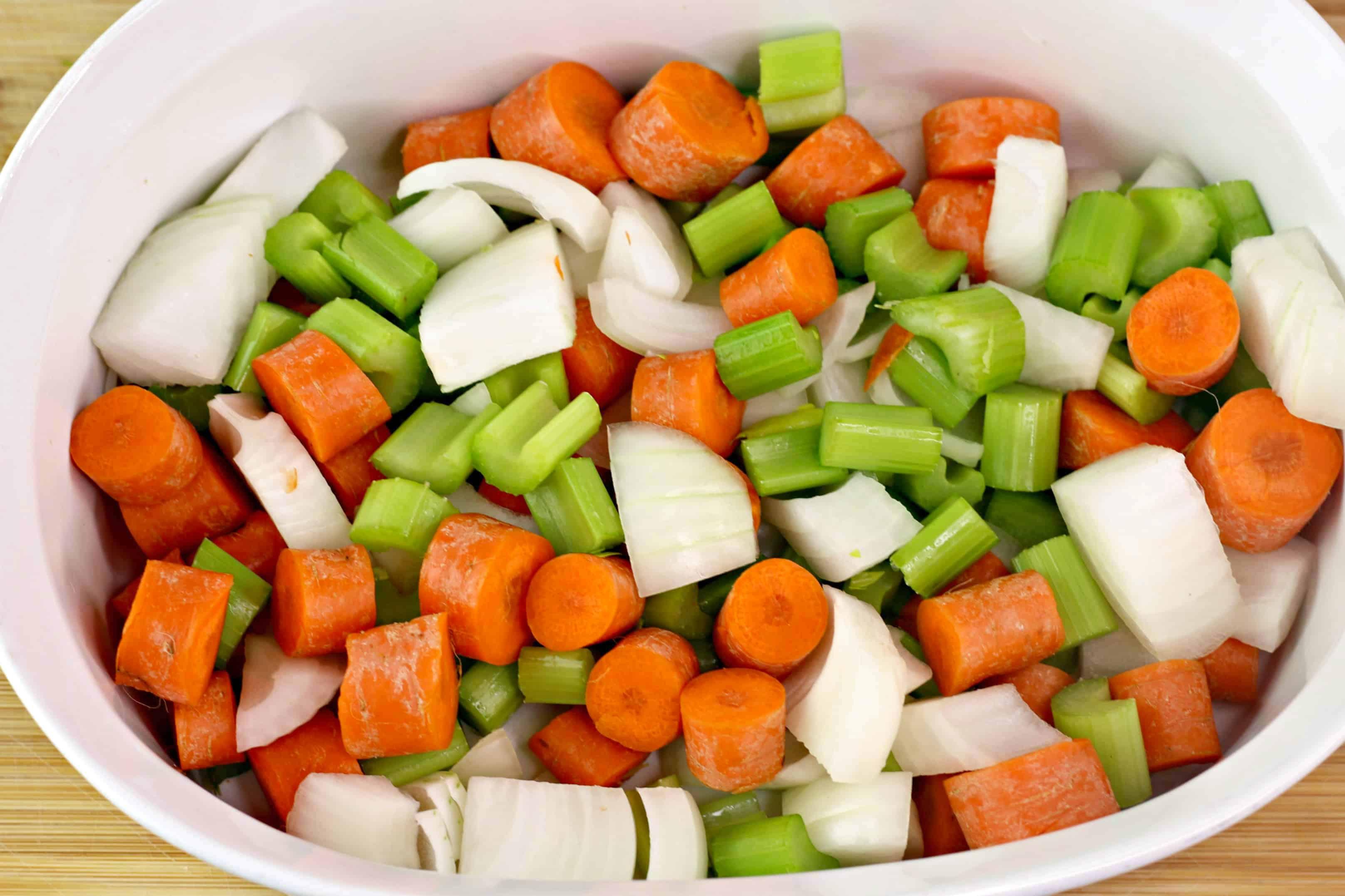 veggies in a casserole dish