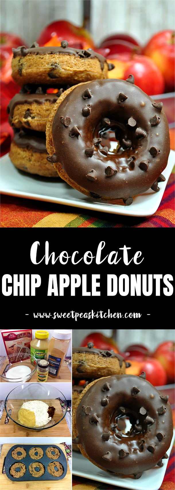 Chocolate Chip Apple Donuts Recipe