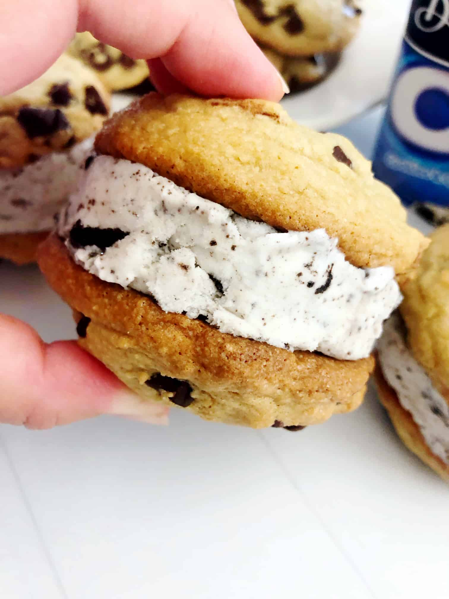 Chocolate Chip Ice Cream Cookie Sandwich