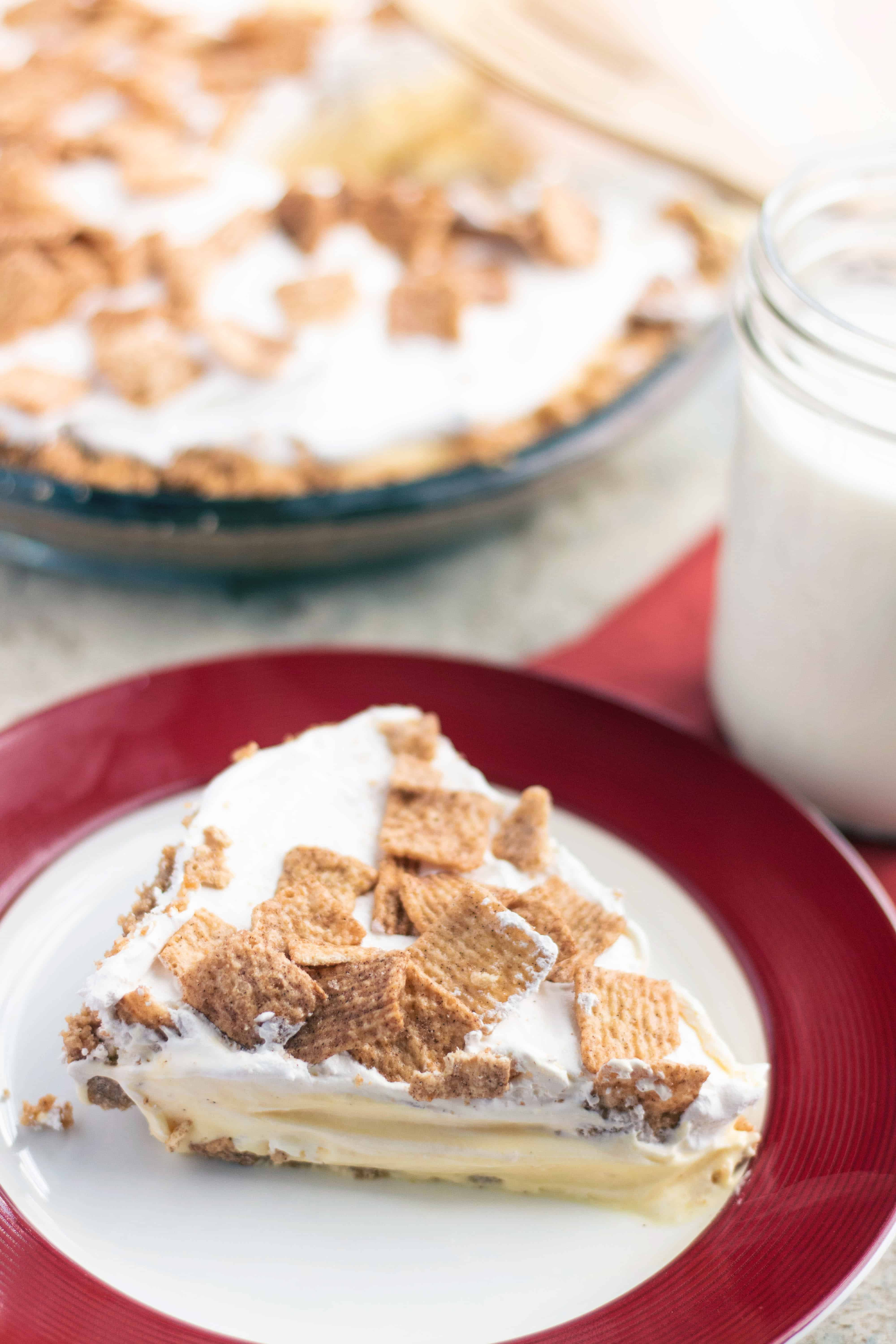 Cinnamon Toast Crunch Pudding Pie No Bake Dessert