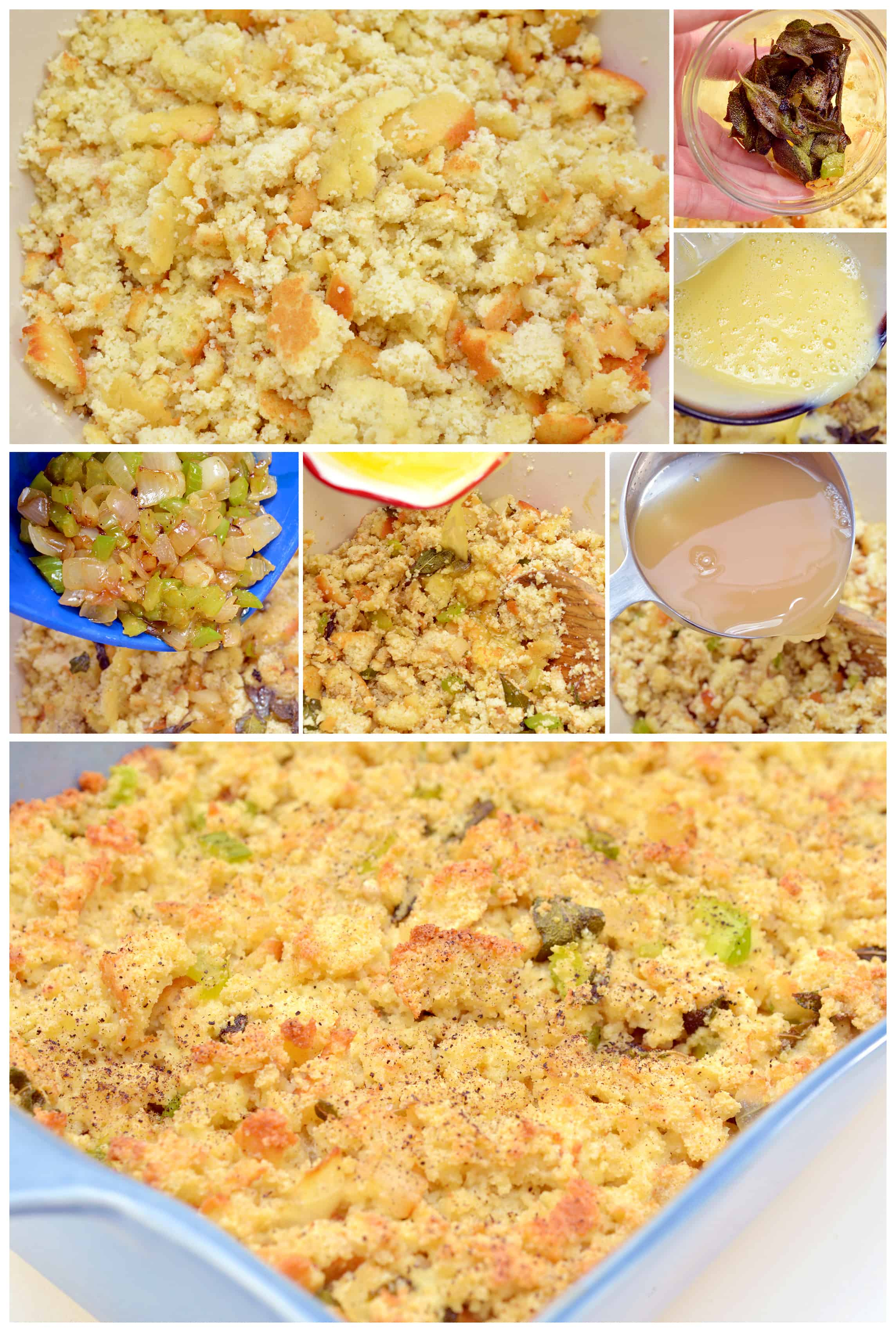step by step making the stuffing