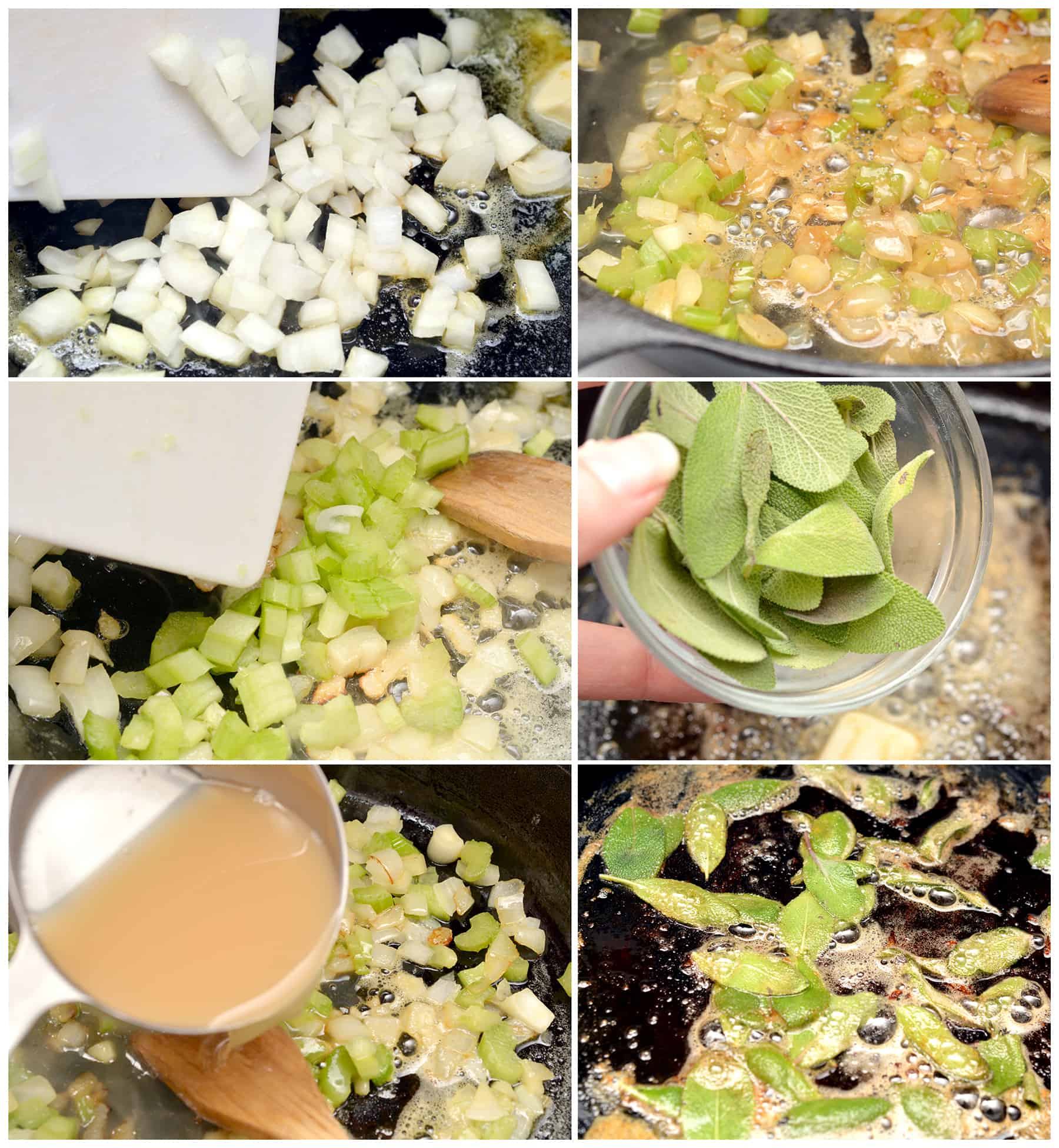 Step by Step for cornbread stuffing