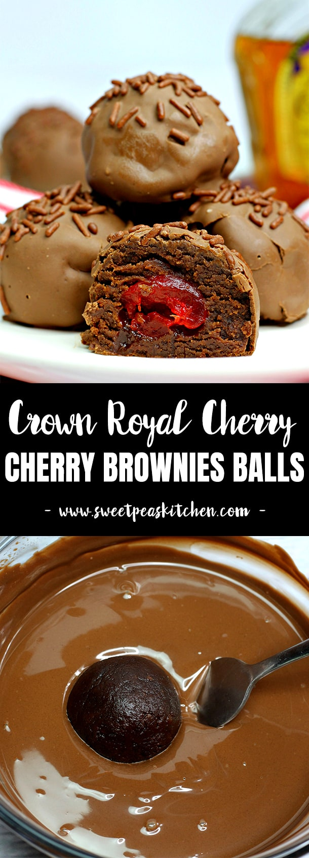 Crown Royal Cherry Brownies Balls