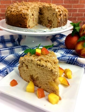 Fresh Peach Coffee Cake Recipe