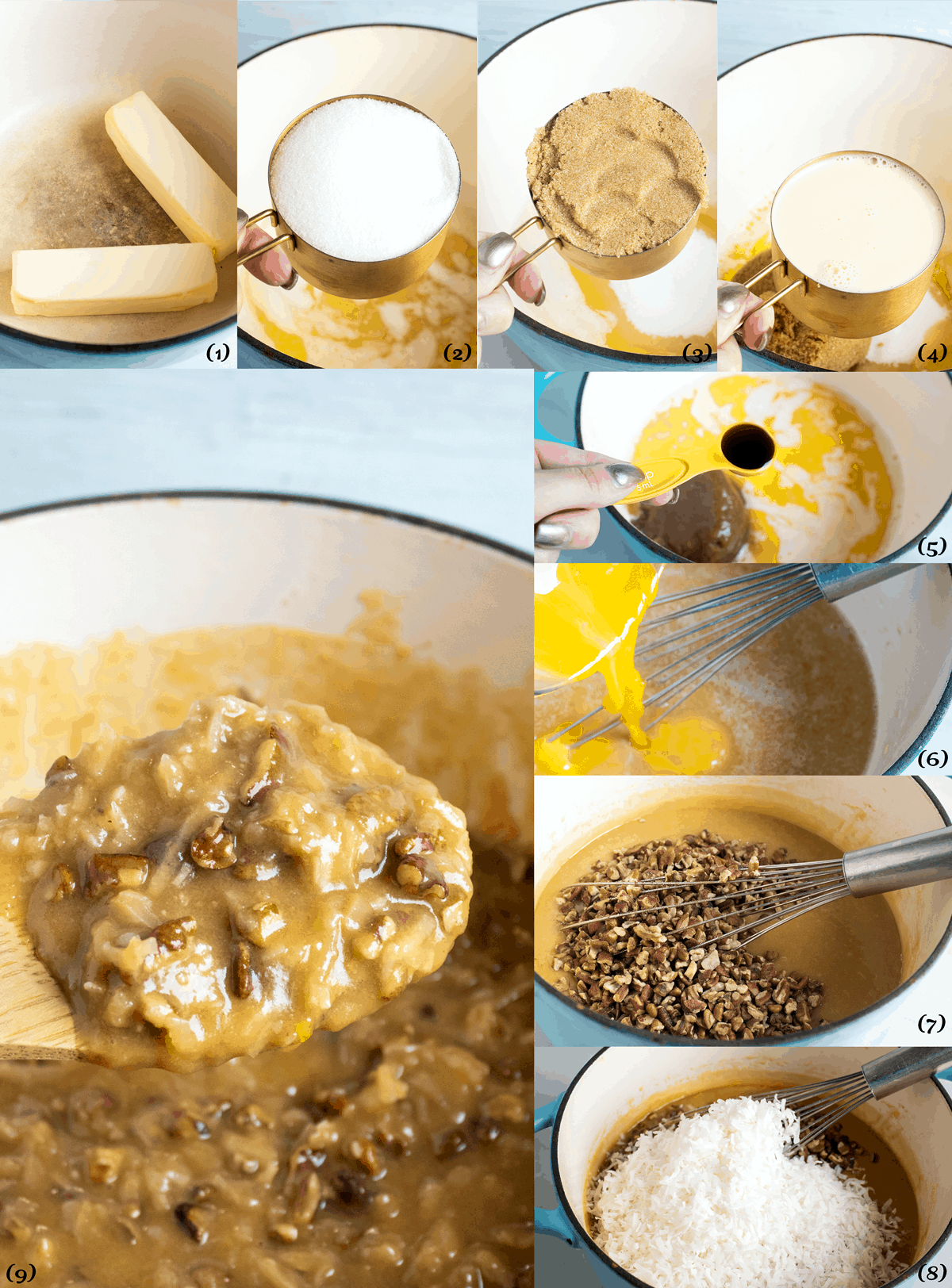 how to make coconut pecan frosting