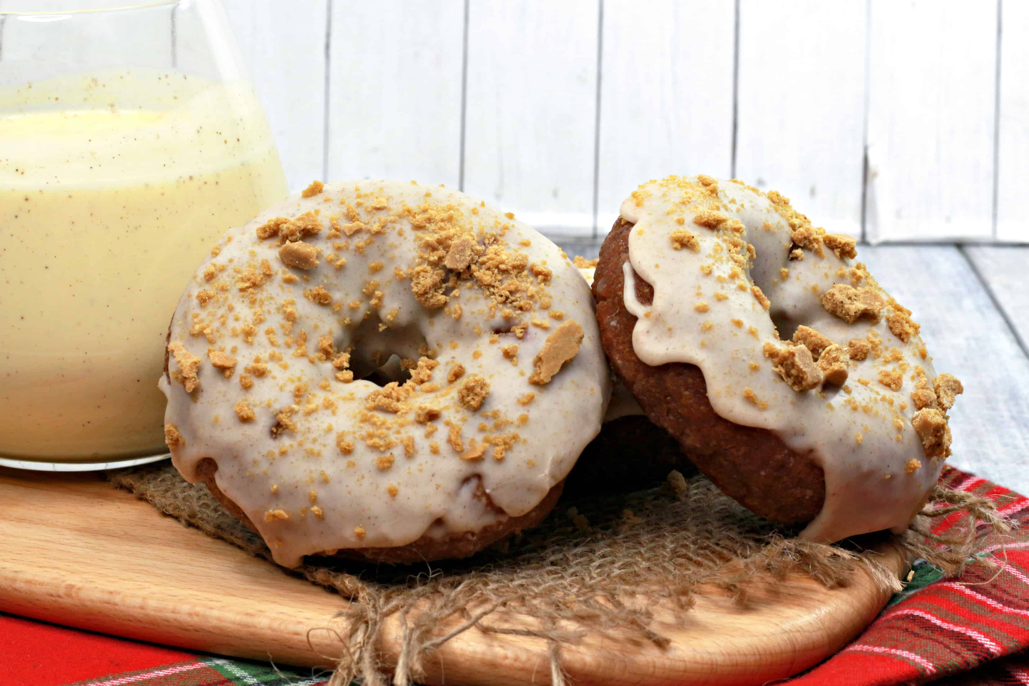 glazed gingerbread homemade donuts