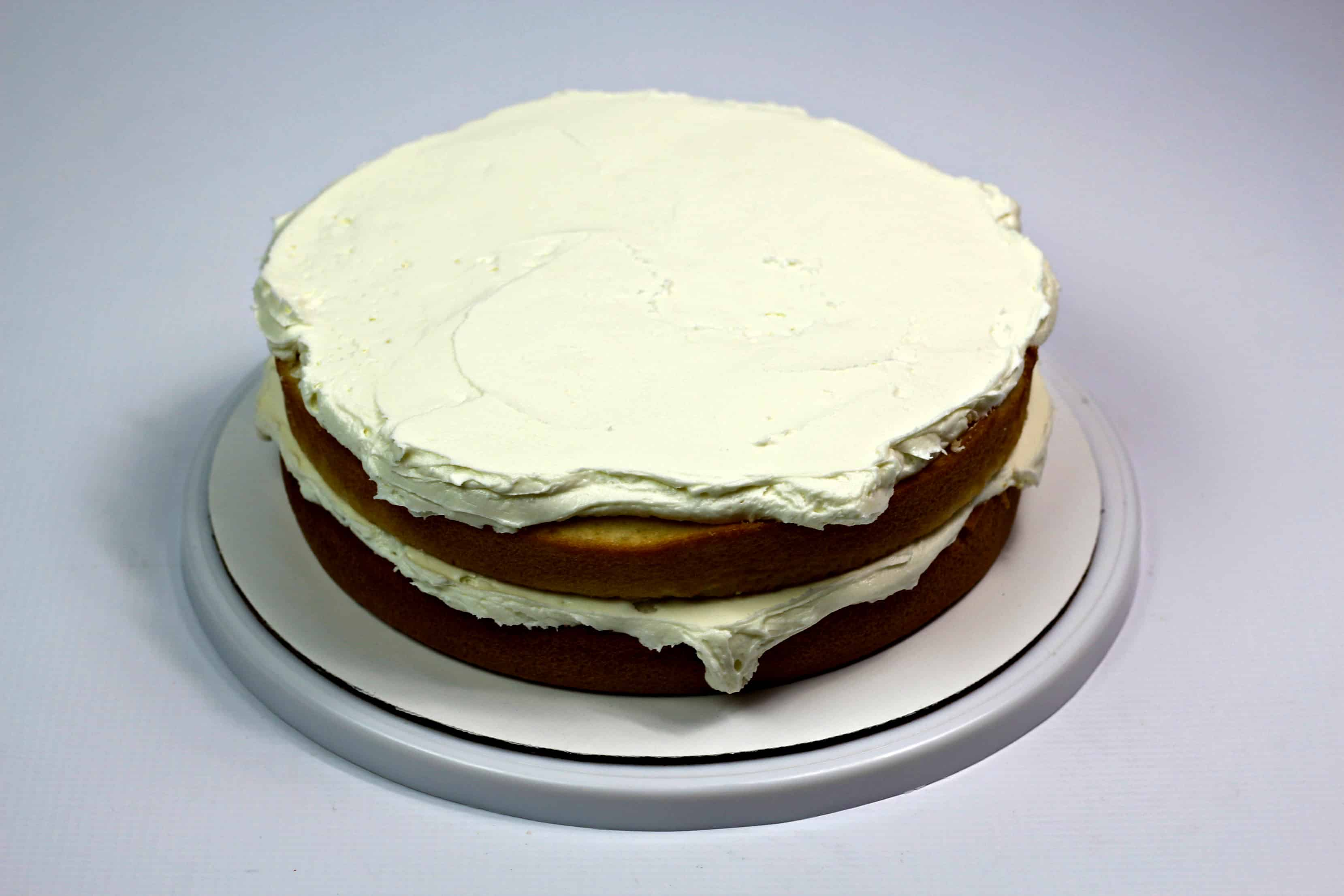 2 layer cake frosted