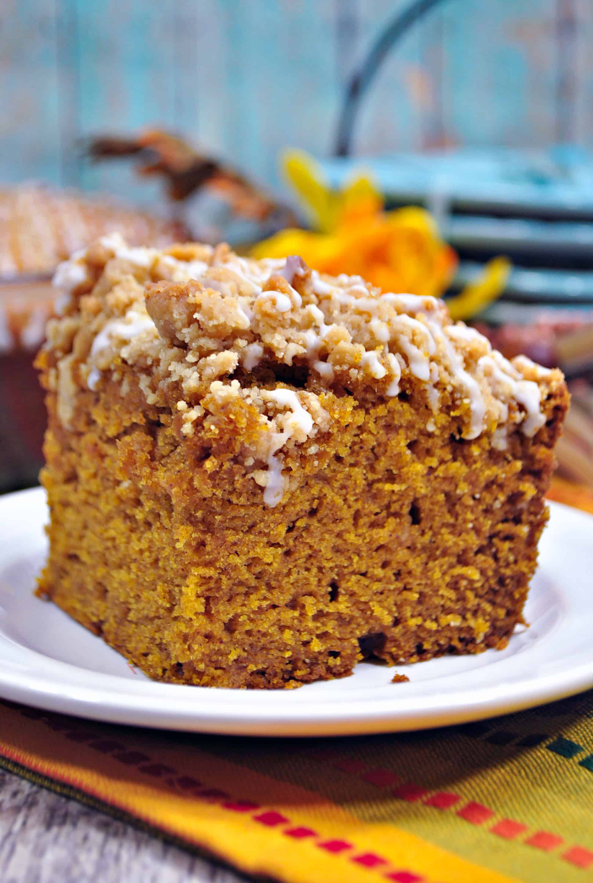 Homemade Pumpkin Coffee Cake with Crumb Topping