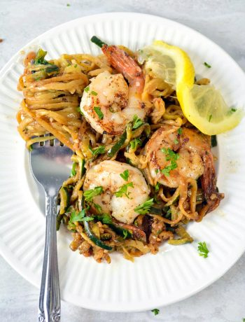 Lemon Garlic Butter Shrimp with Zoodles