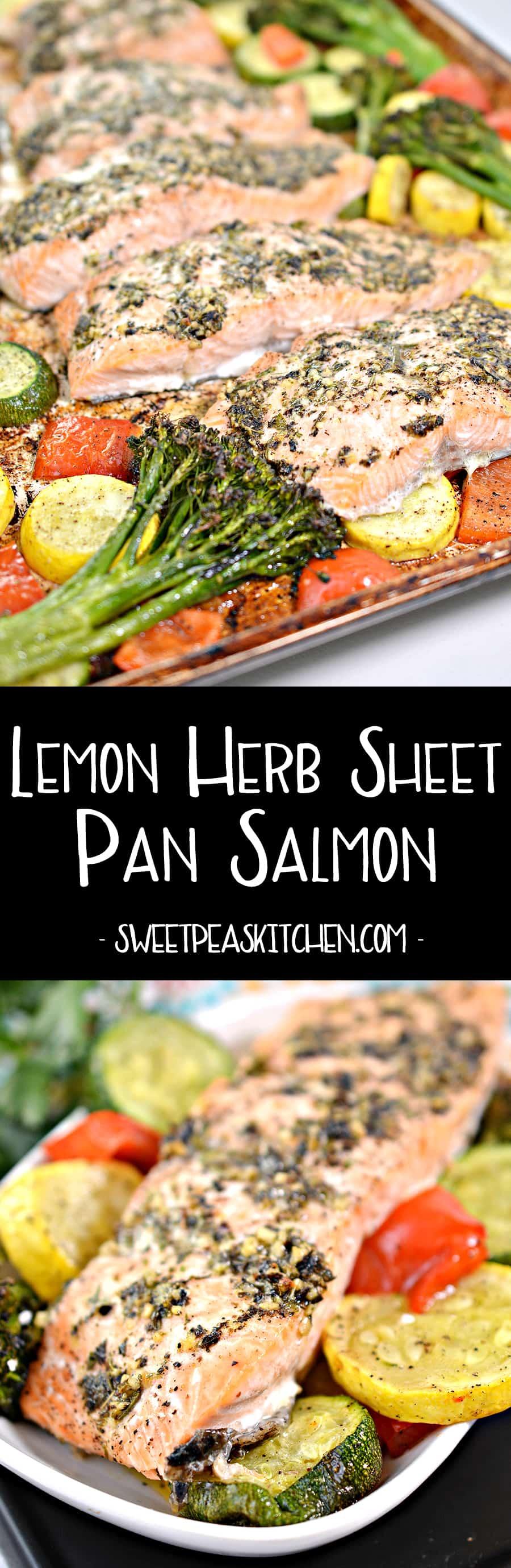 Lemon Herb Sheet Pan Salmon