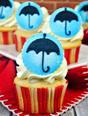 Mary Poppins Vanilla Cake Mix Cupcakes