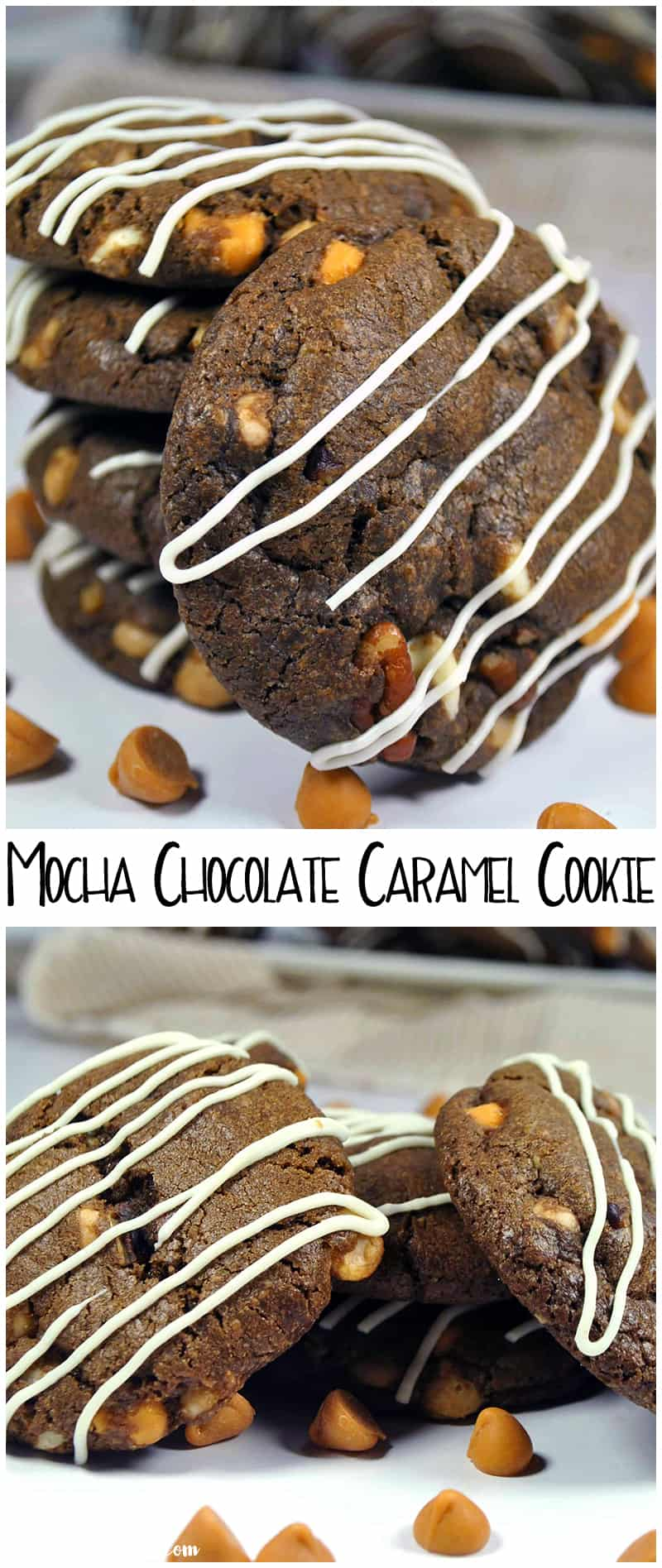 Mocha Chocolate Caramel Cookie Recipe