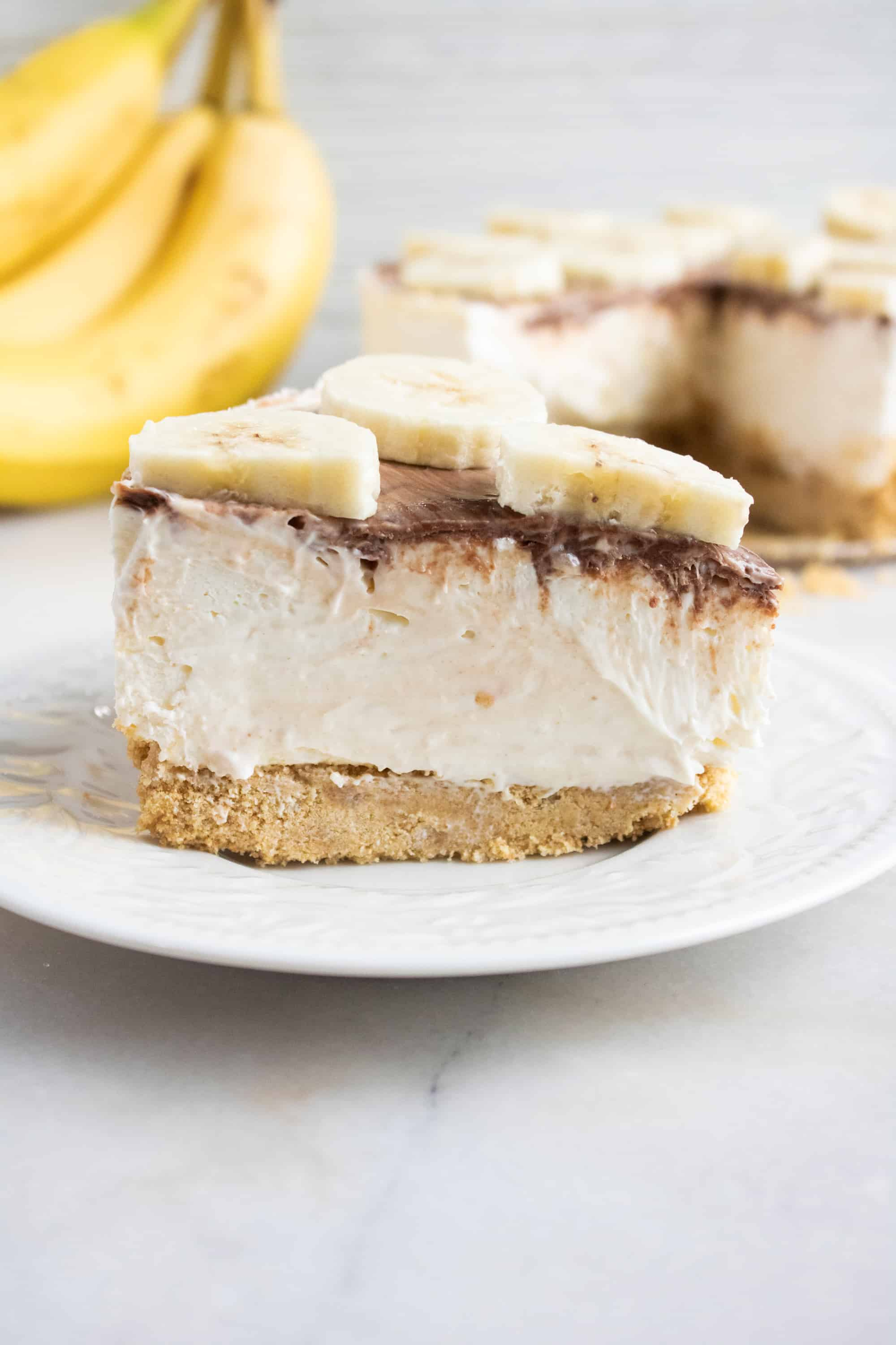 no bake banana cheesecake