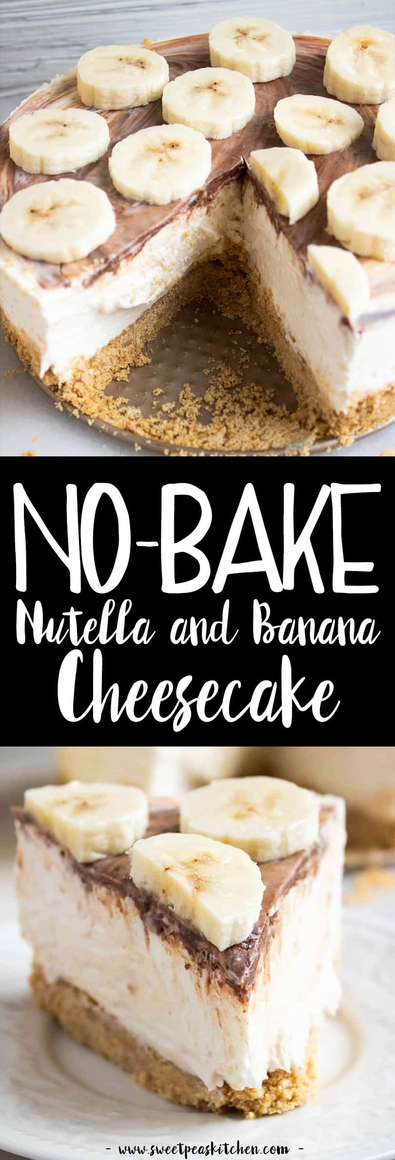 No Bake Nutella Cheesecake with Banana