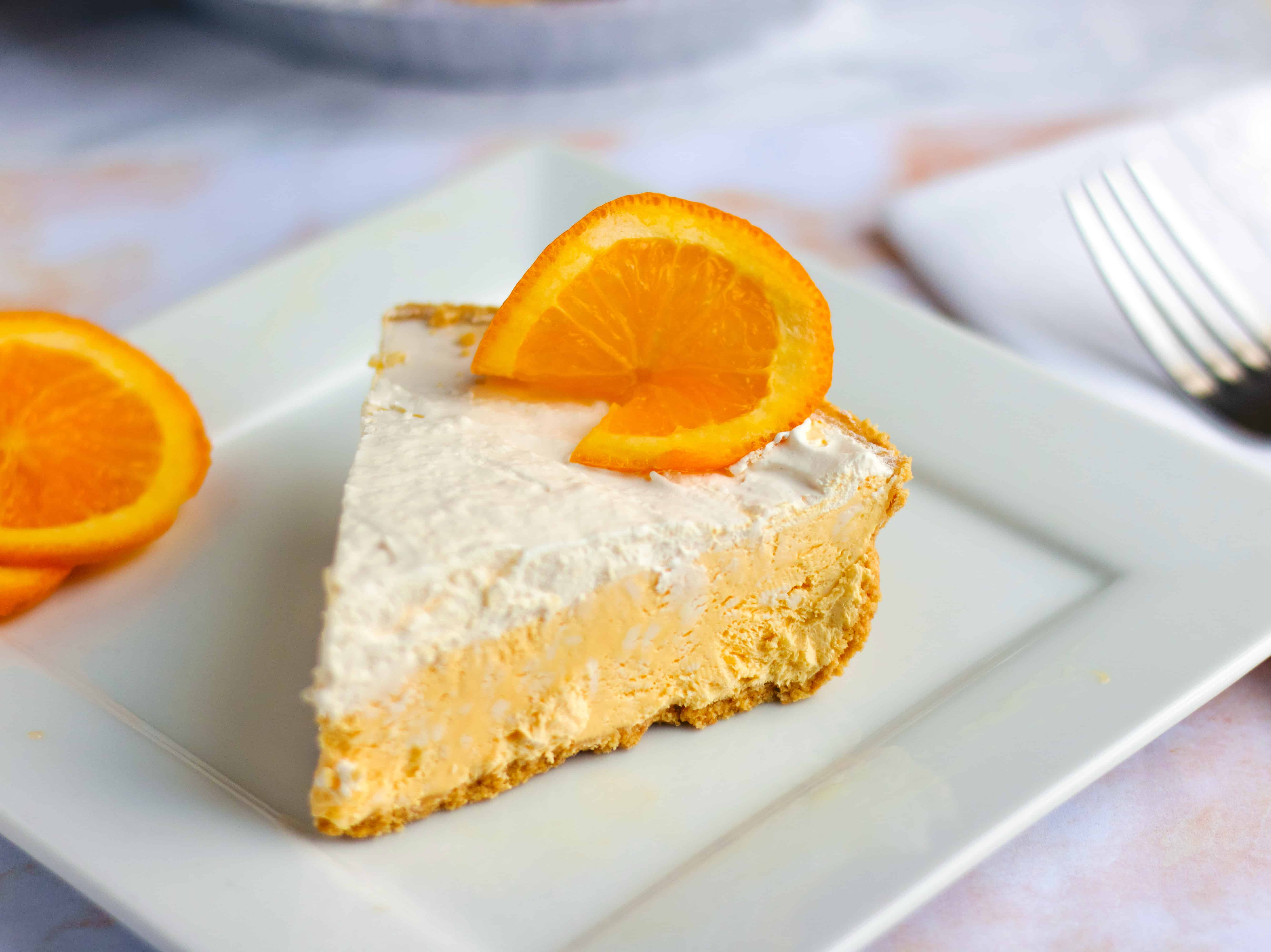 No Bake Orange Creamsicle Pie Recipe