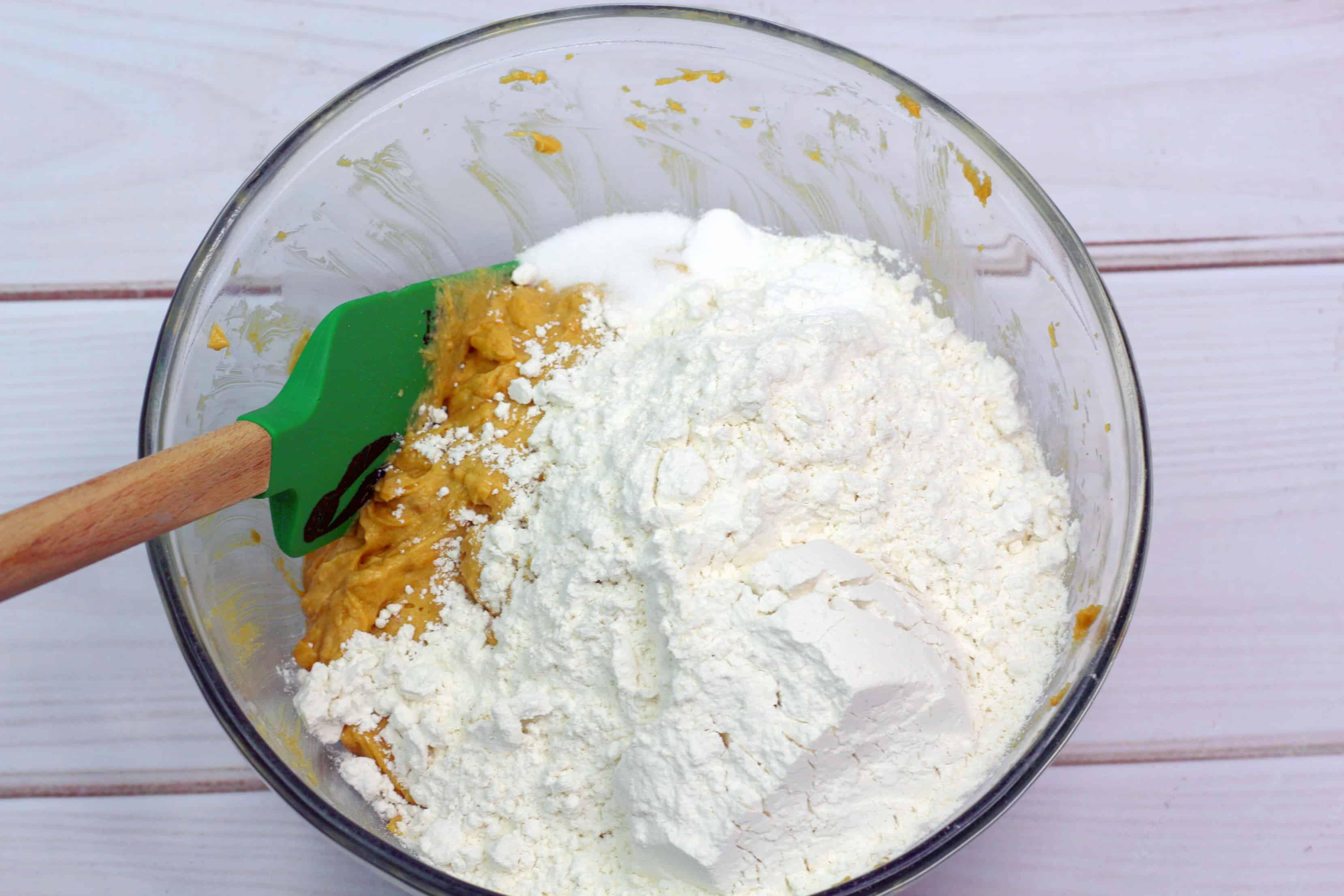 peanut butter and flour mixture