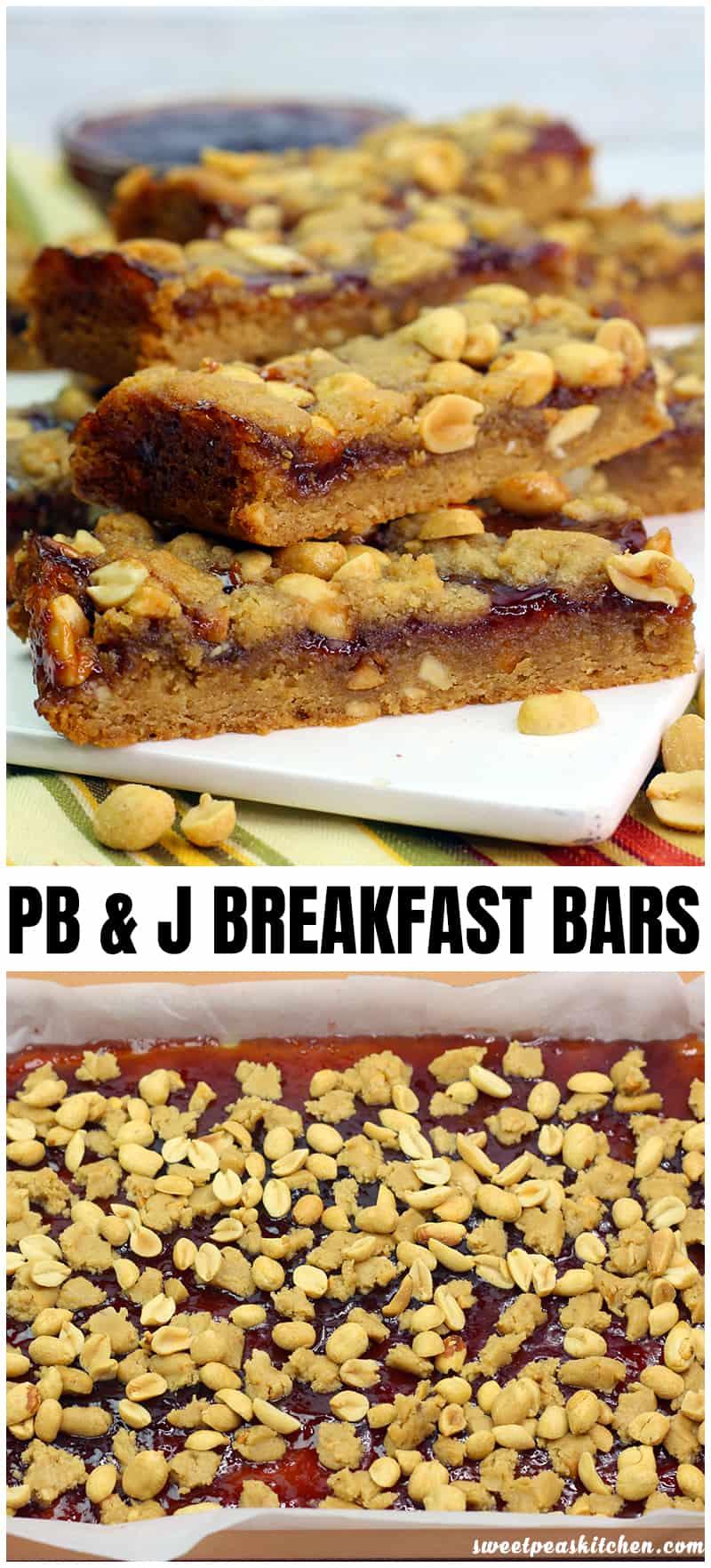 PB and J Breakfast Bars